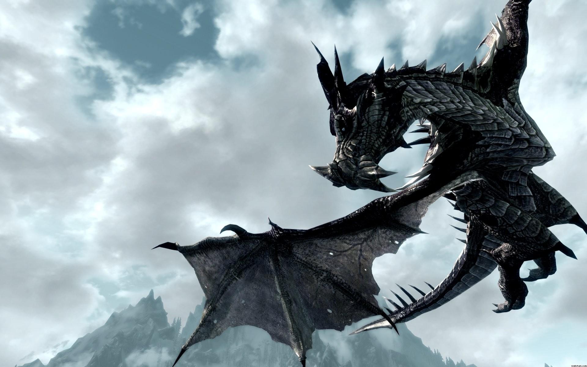 Skyrim Dragon. skyrim dragon. Wallpaper