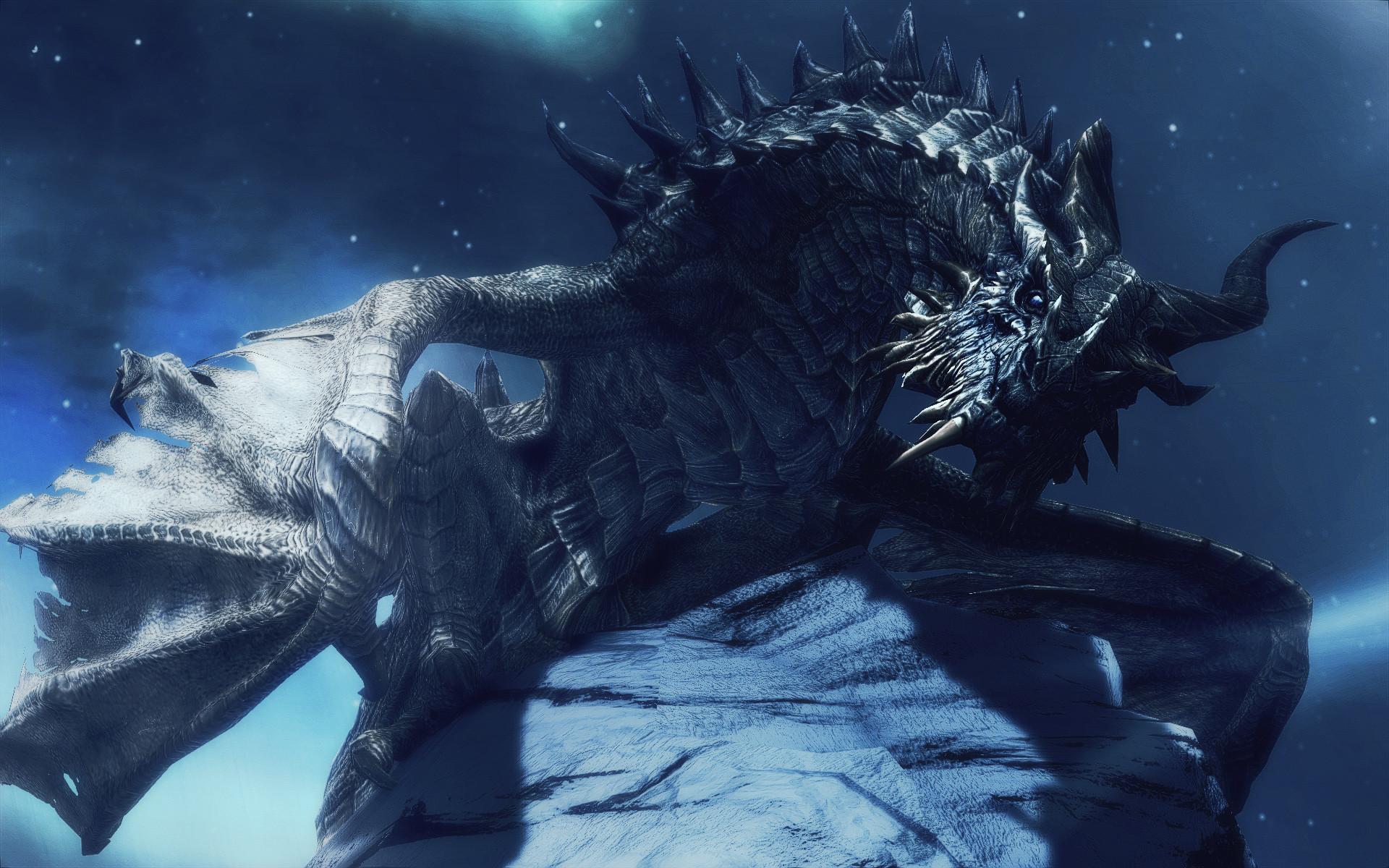 Dragons Games Horns Parthanax The Elder Scrolls V Skyrim Wings