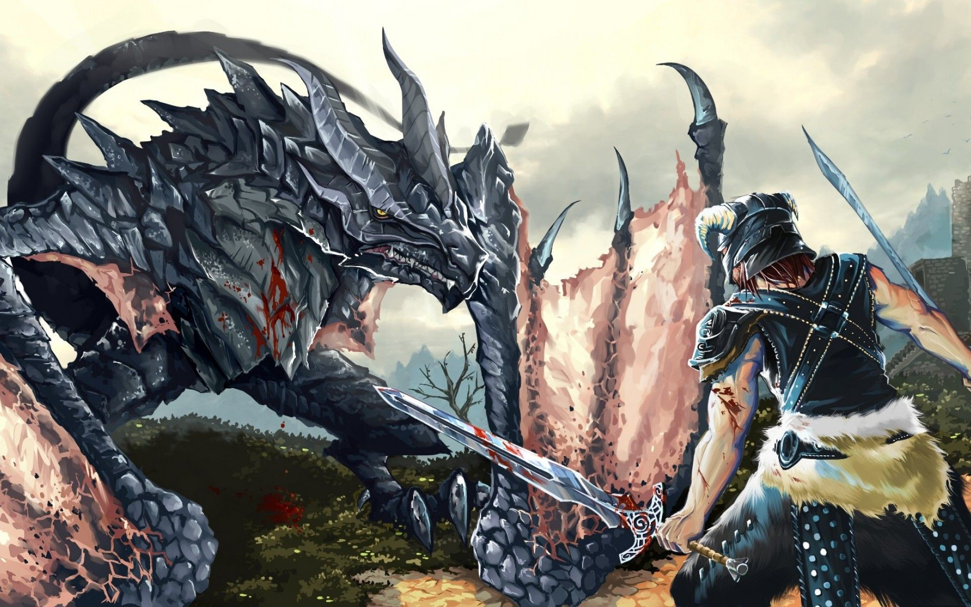 … Skyrim Dragon Hd Wallpaper 1920×1080 Id35096. Download