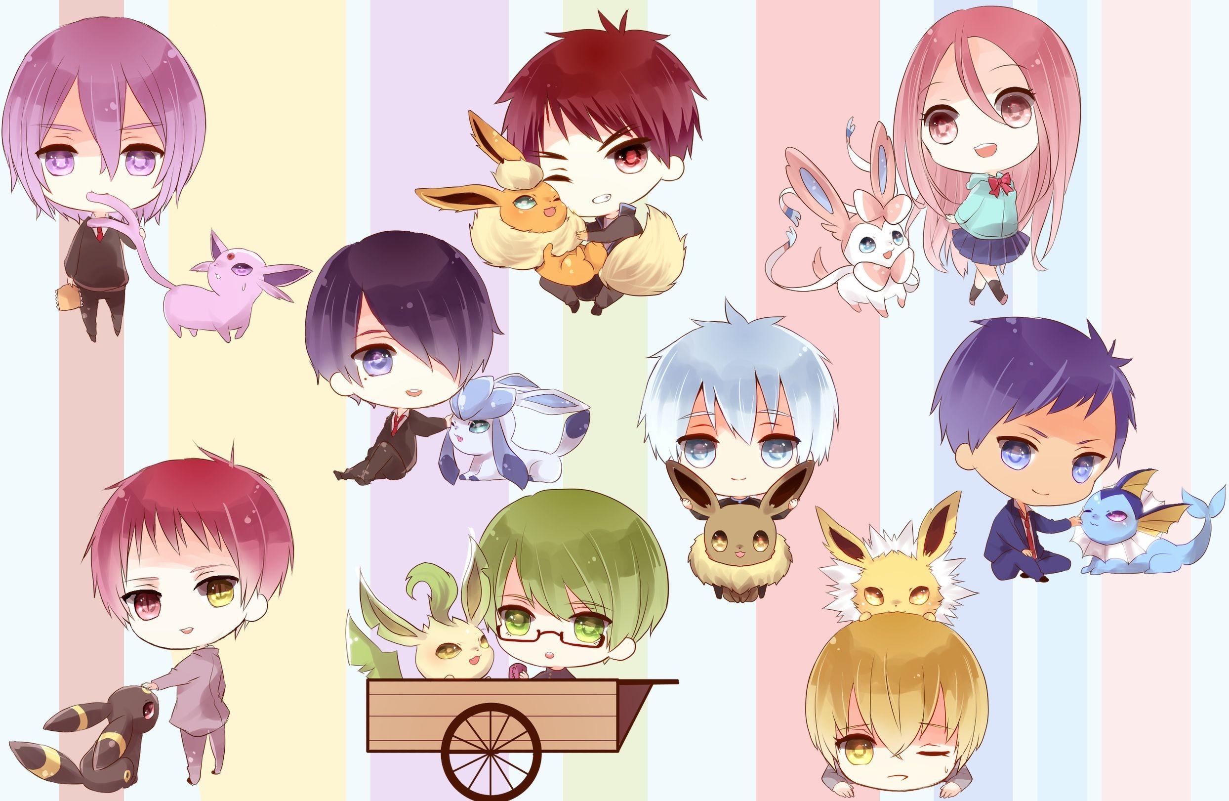 Kurokos basketball characters with pokemon wallpaper