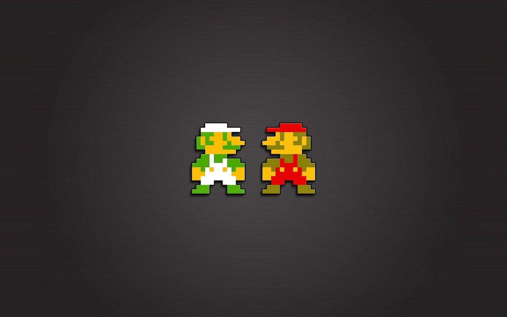 Mario Bros., Luigi, Nintendo Entertainment System, Video Games, 8 bit,  Pixels Wallpapers HD / Desktop and Mobile Backgrounds