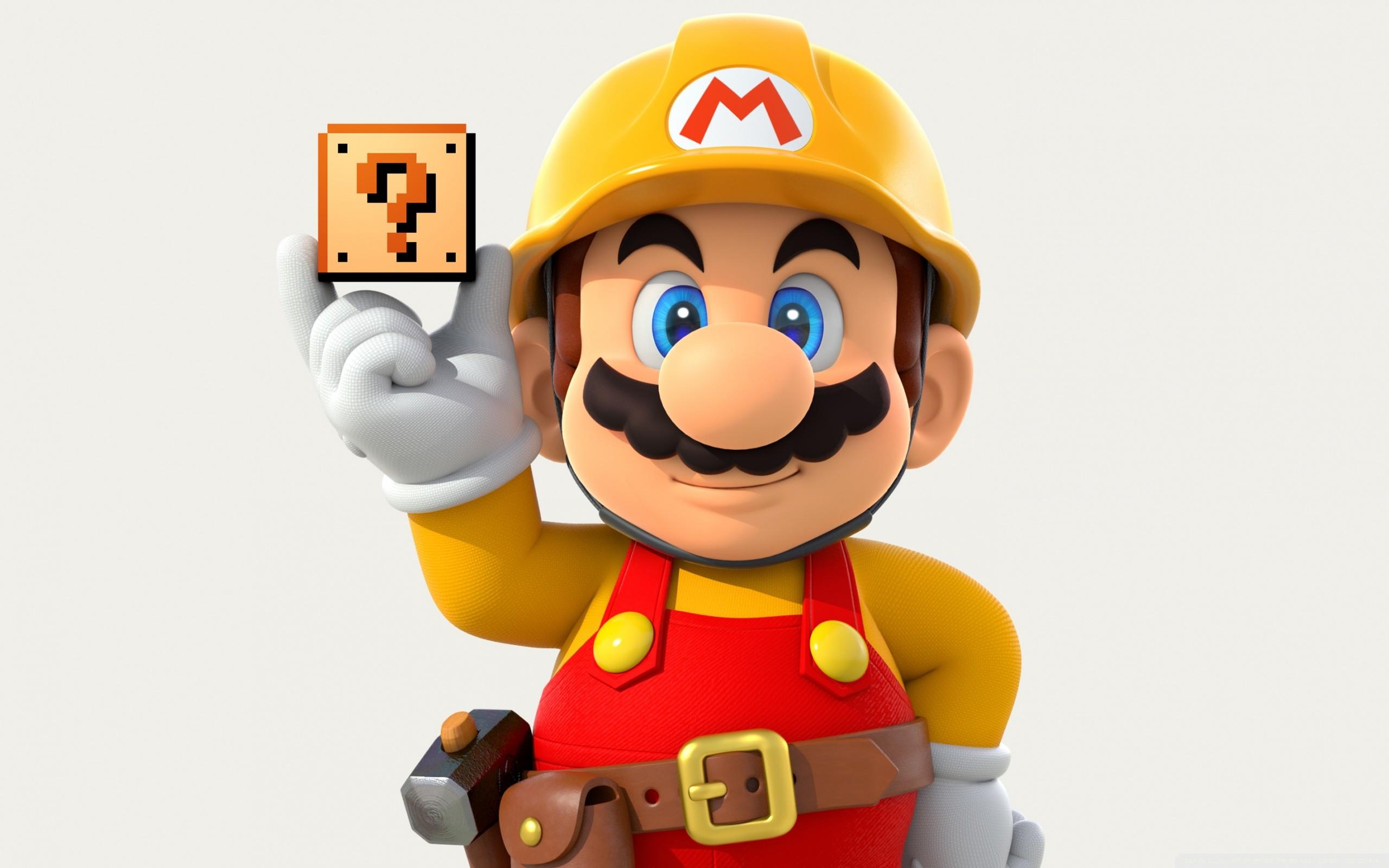 Super Mario Maker HD Wide Wallpaper for Widescreen