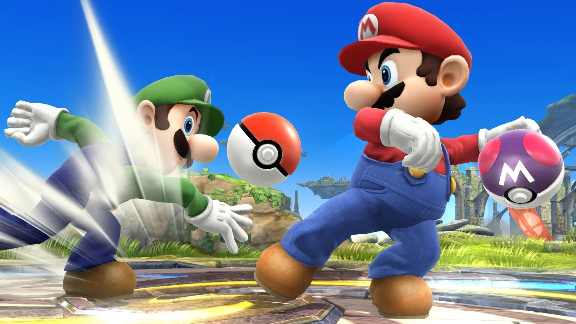 Super Smash Bros – Wii-U – Mario vs Luigi – Screenshot Full HD –