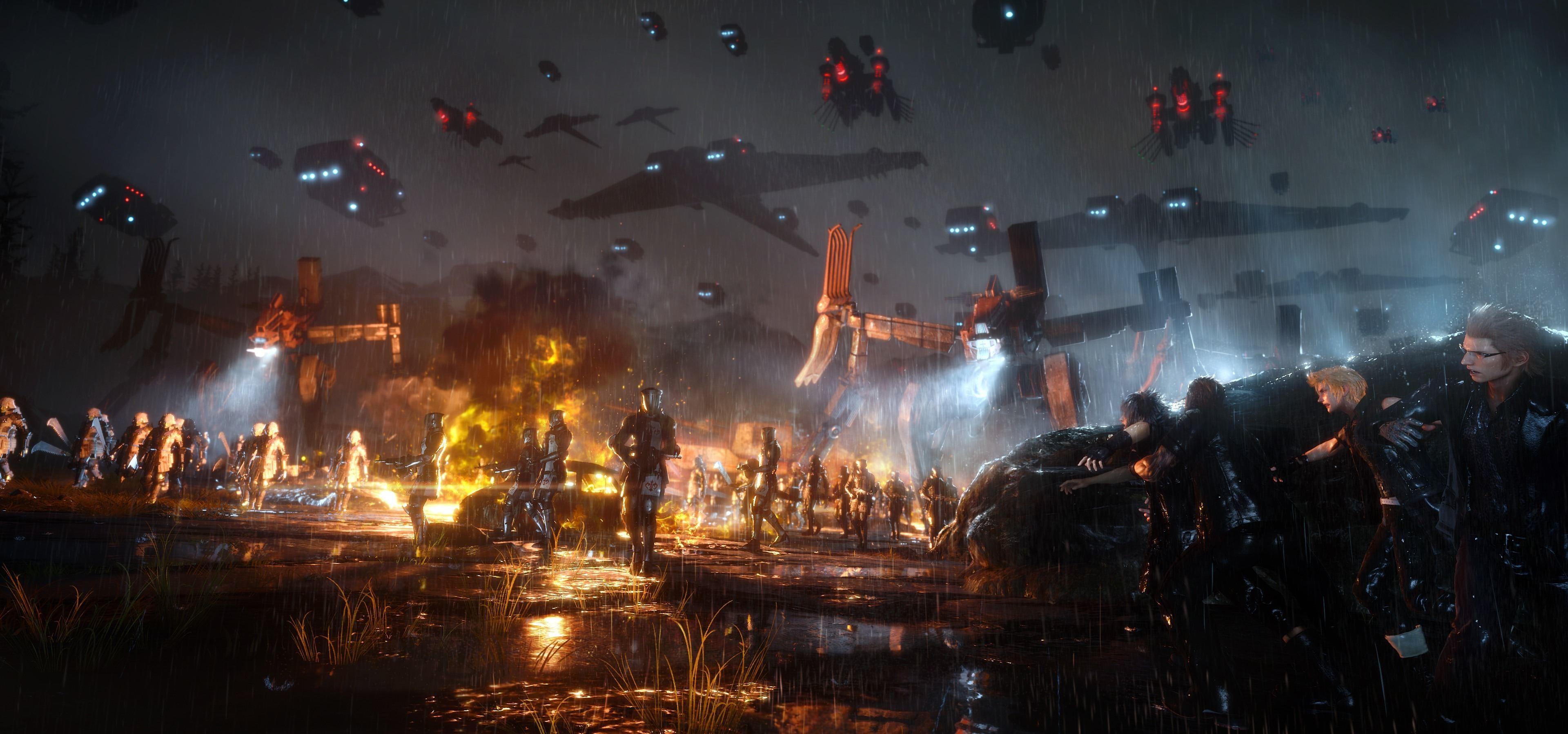 Video Game – Final Fantasy XV Gladiolus Amicitia Ignis Scientia Prompto  Argentum Noctis Lucis Caelum Wallpaper