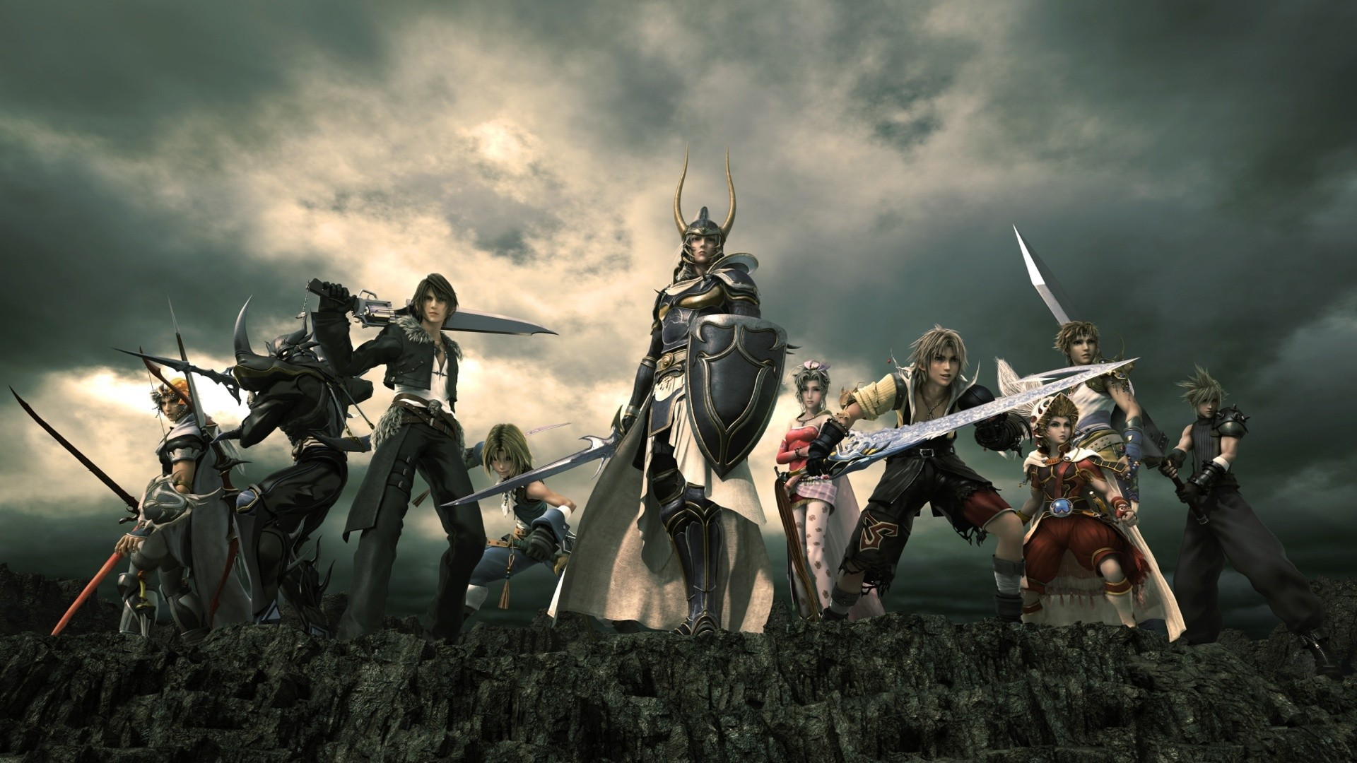 Heroes are preparing for battle Final Fantasy xv