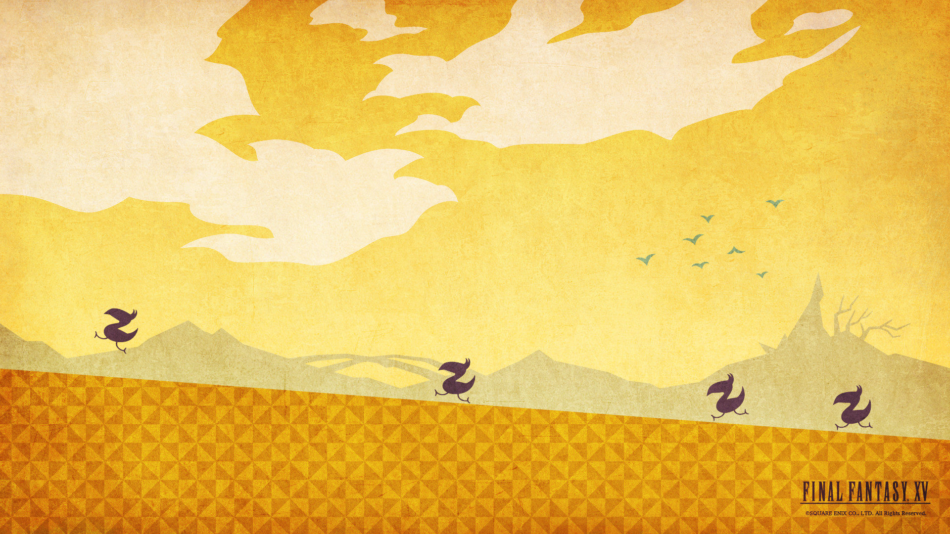 Chocobo themed wallpapers thanks to Final Fantasy XV!