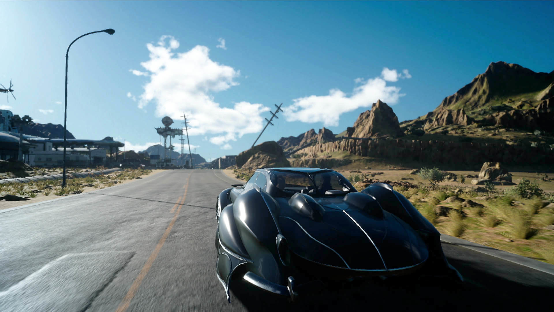 Regalia Type-F on the Road – Final Fantasy XV wallpaper