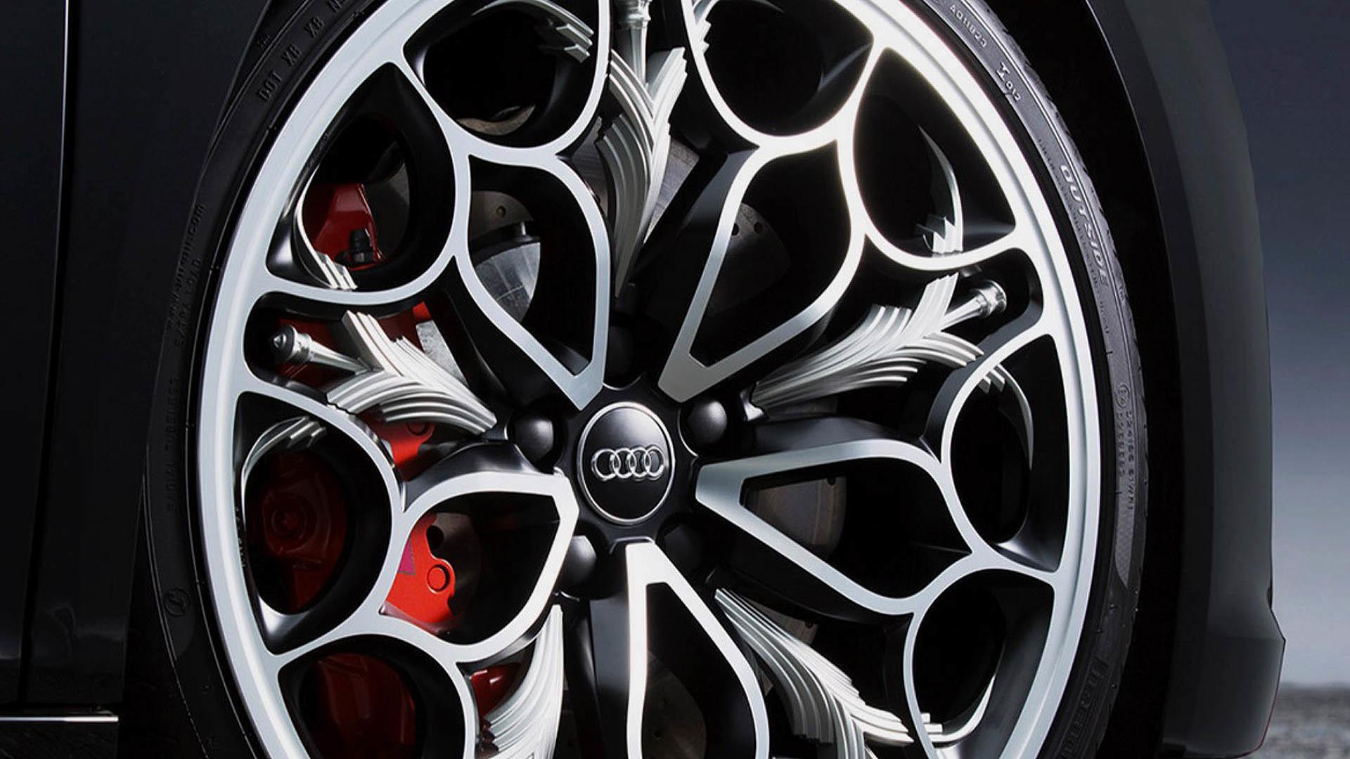 FFXV Regalia-themed Audi R8 Wheel wallpaper
