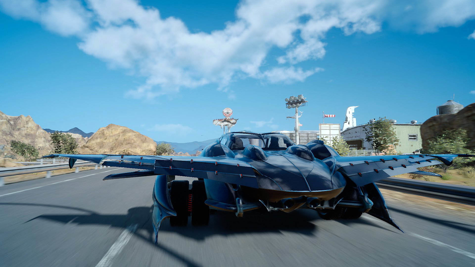 FFXV flying car (Regalia Type-F) takeoff – Final Fantasy XV  wallpaper