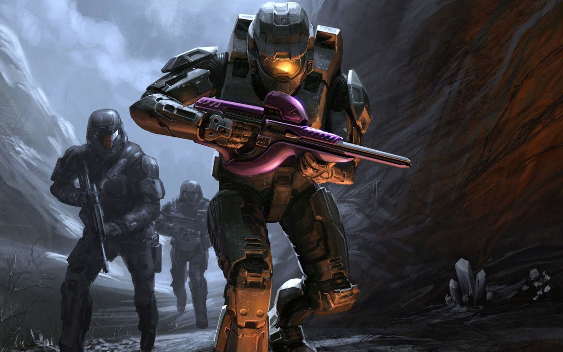 Wallpapers For > Halo 3 Wallpaper Master Chief And Arbiter