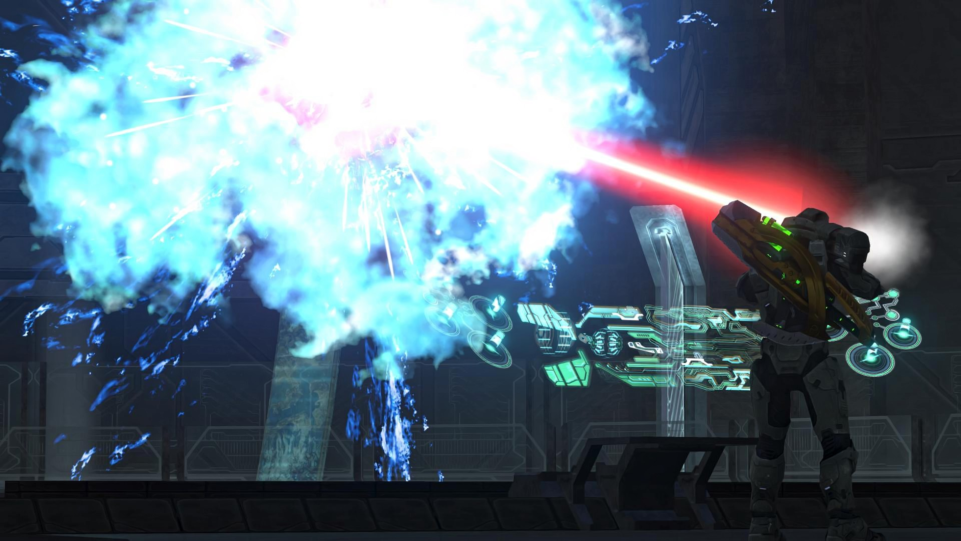 Image – Halo-3-Wallpaper-HALO-chapter-1080p-232-343-Guilty-Spark-VS-MASTER- CHIEF.jpg | Halo Nation | FANDOM powered by Wikia