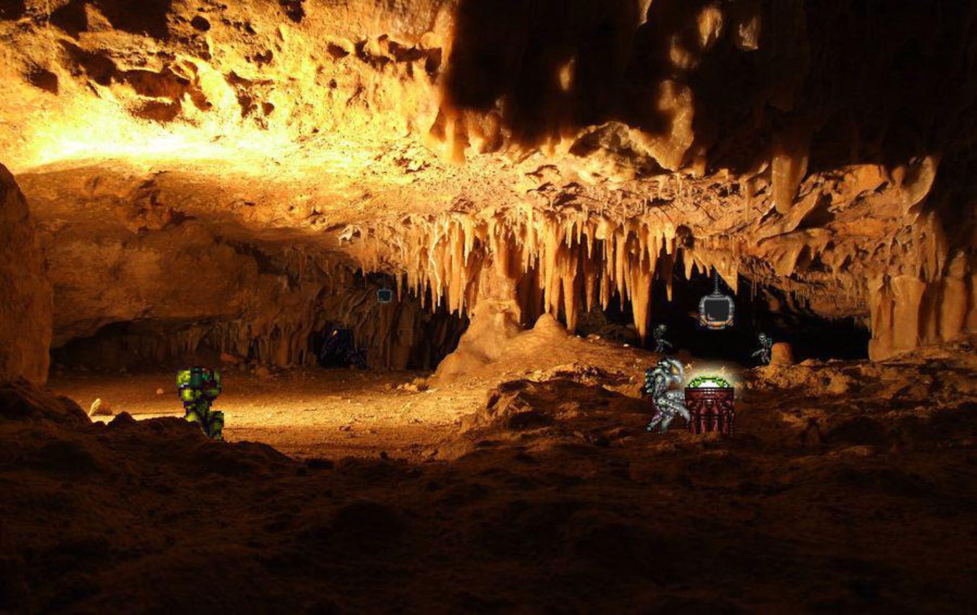 Super Metroid For Real In Cave Wallpaper Artwork