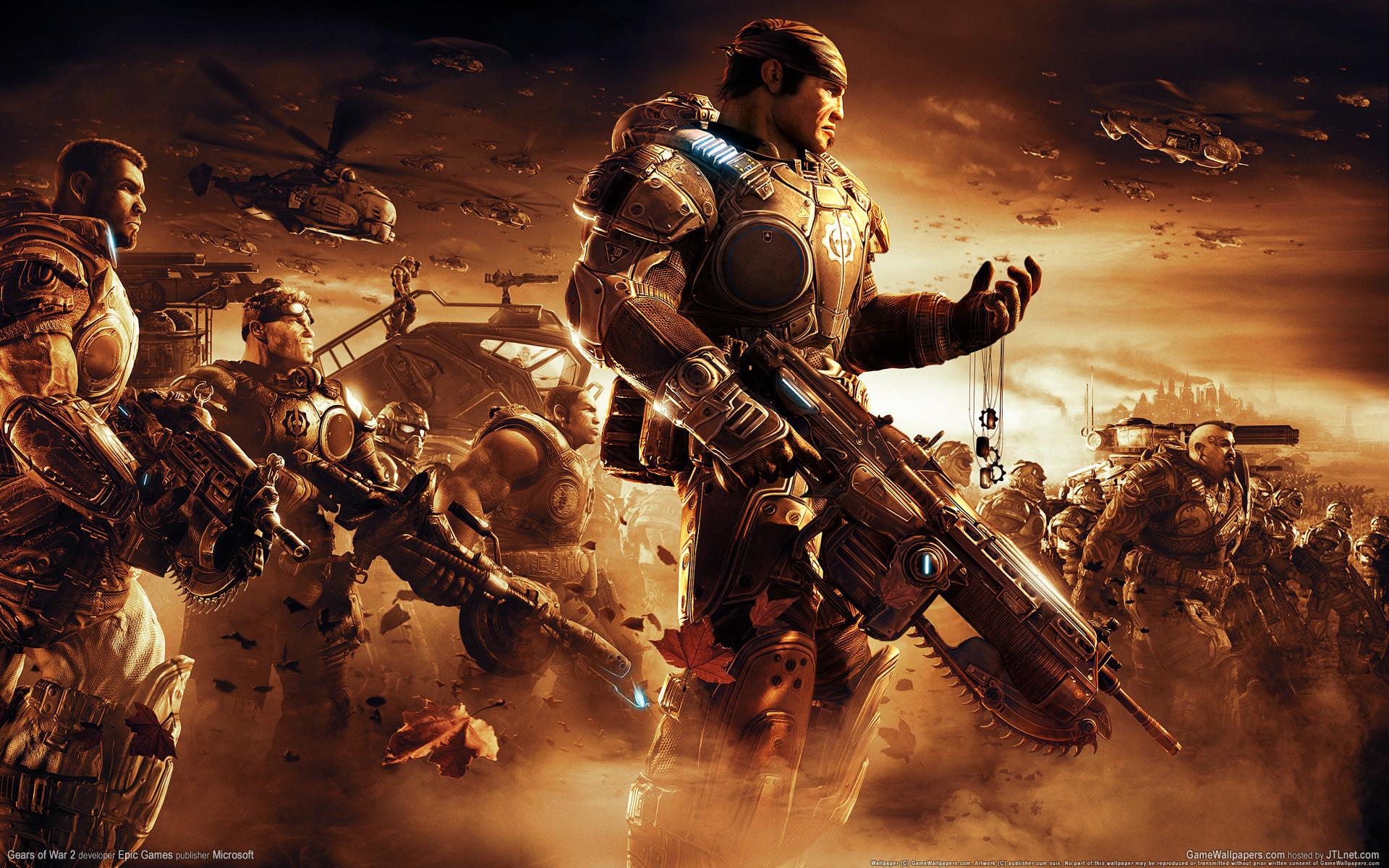 Awesome Gamer Desktop Background · Gears of War Desktop Wallpaper