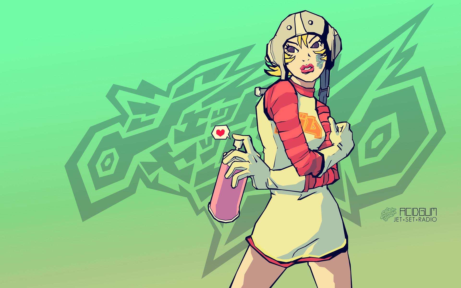 Video Game – Jet Set Radio Gum (Jet Set Radio) Wallpaper