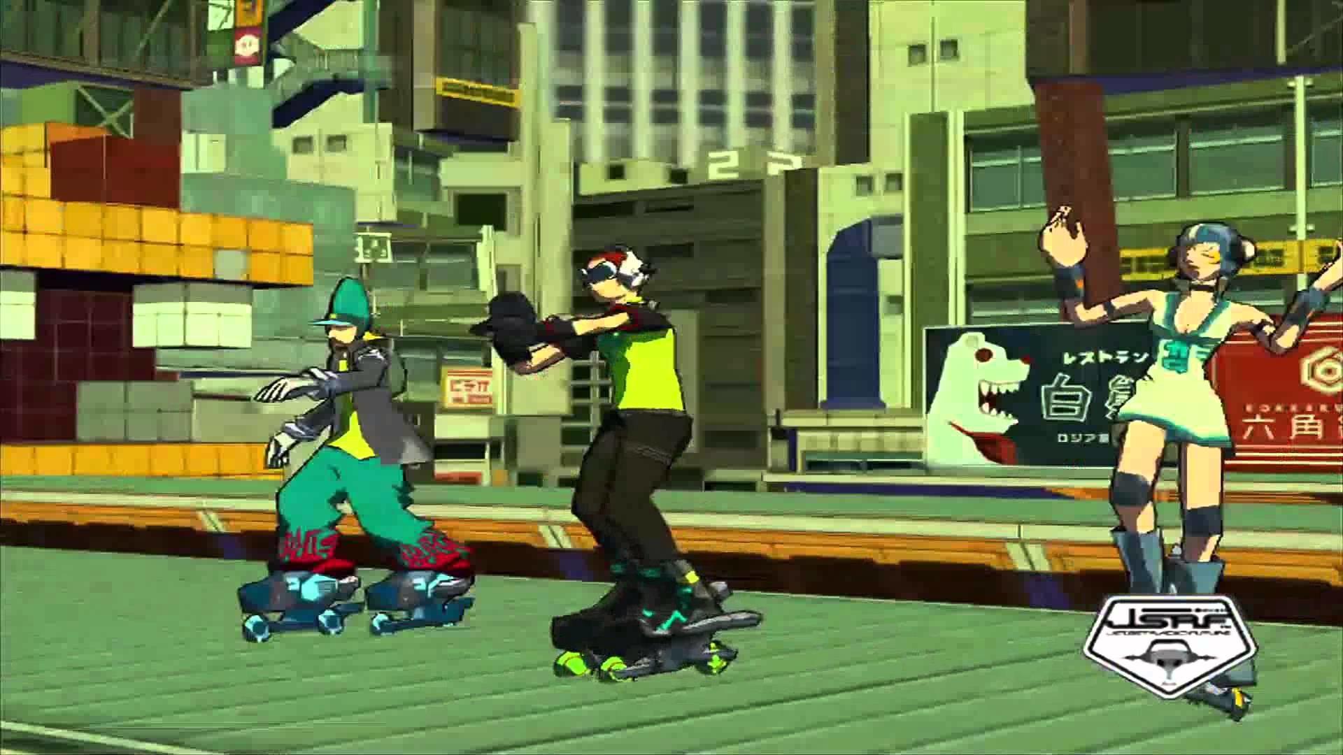 Jet Set Radio Future Title Theme Animatic (2002, Sega)