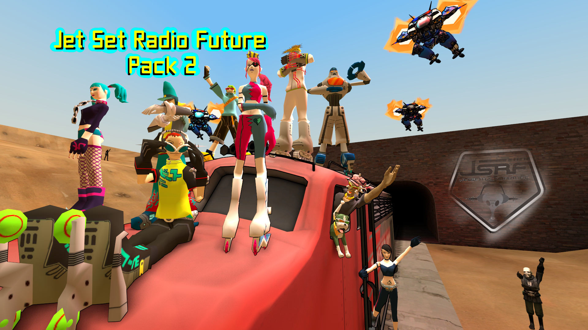… Jet Set Radio Future Pack 2: Source Film Maker by MGOUriel