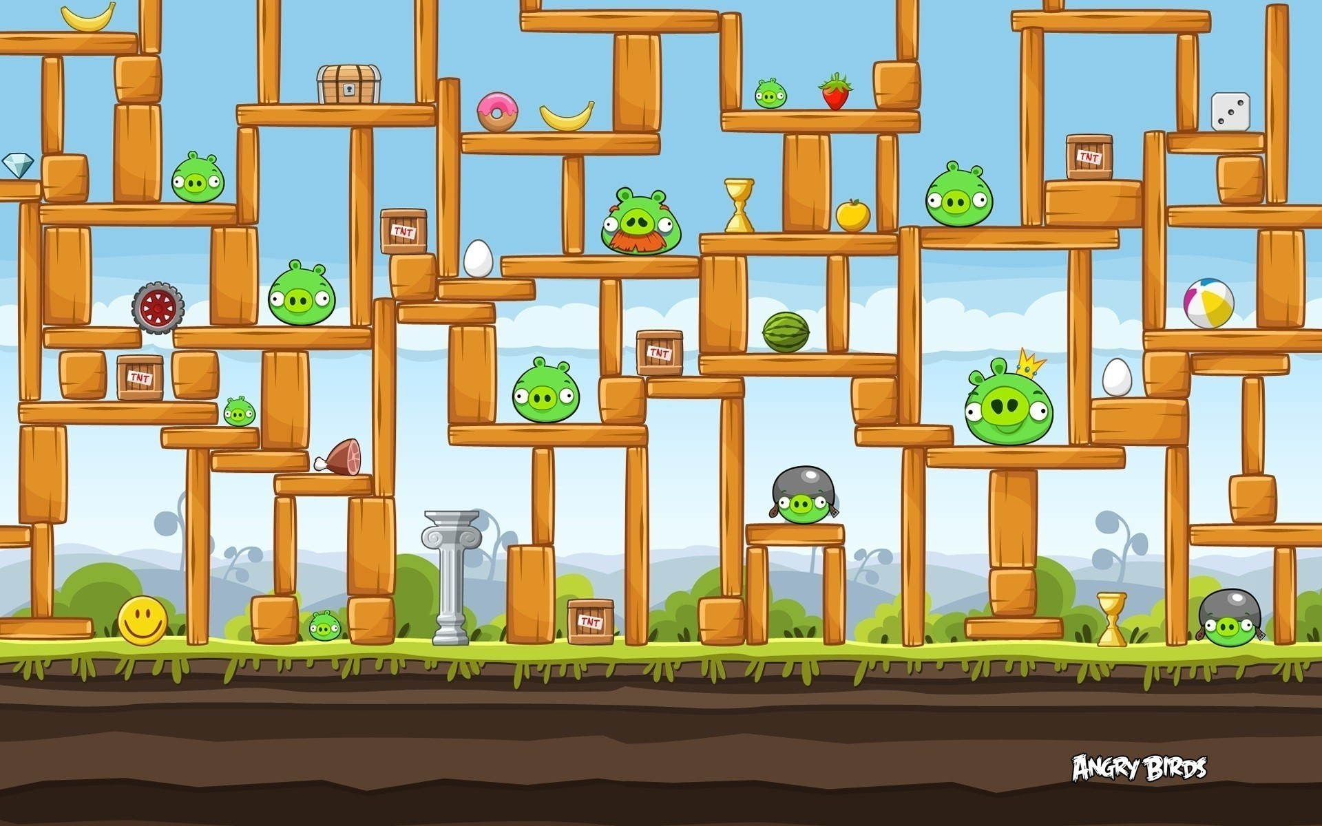 Free angry birds wallpaper background