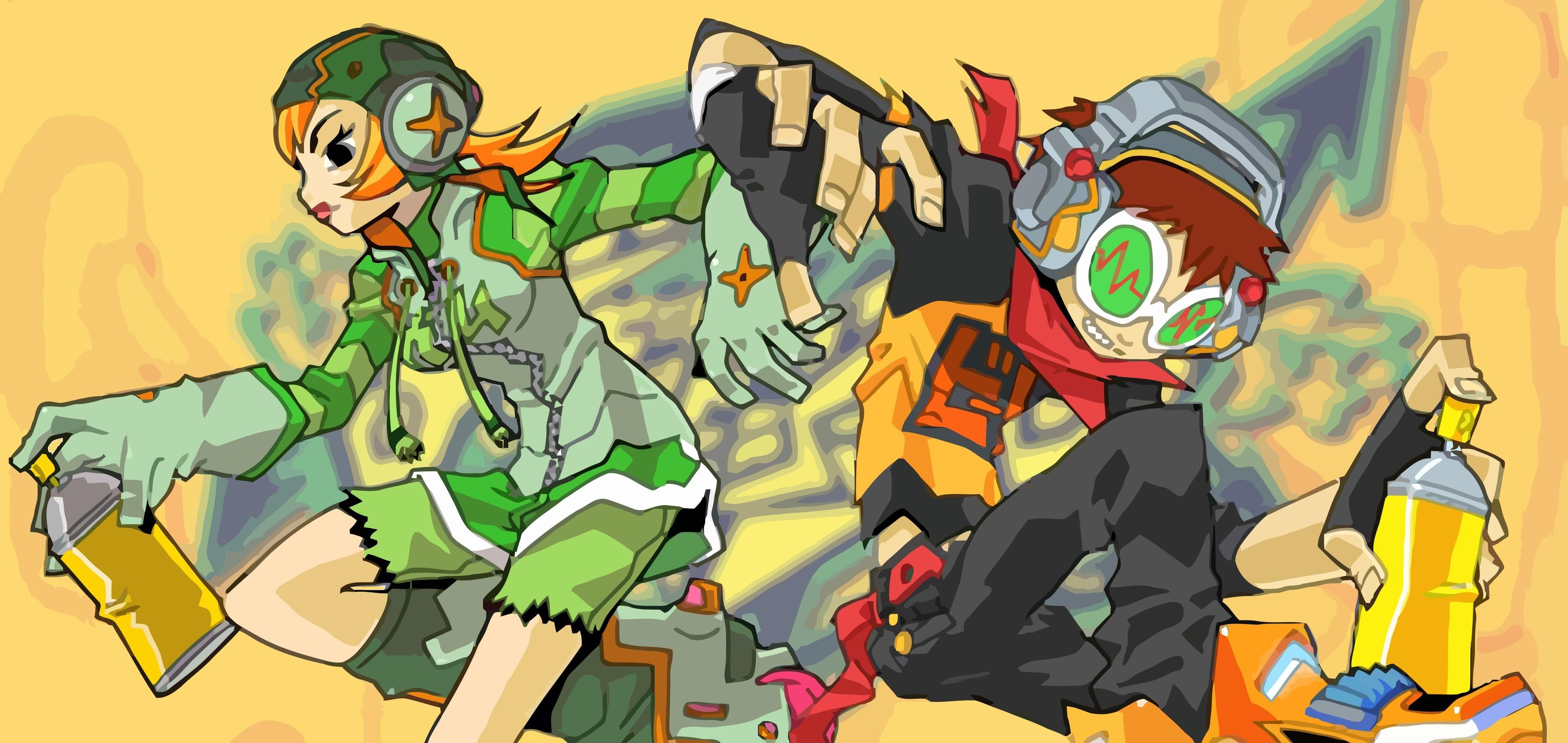 JET SET RADIO action platform sports grind sega anime game (10) wallpaper |  | 241143 | WallpaperUP