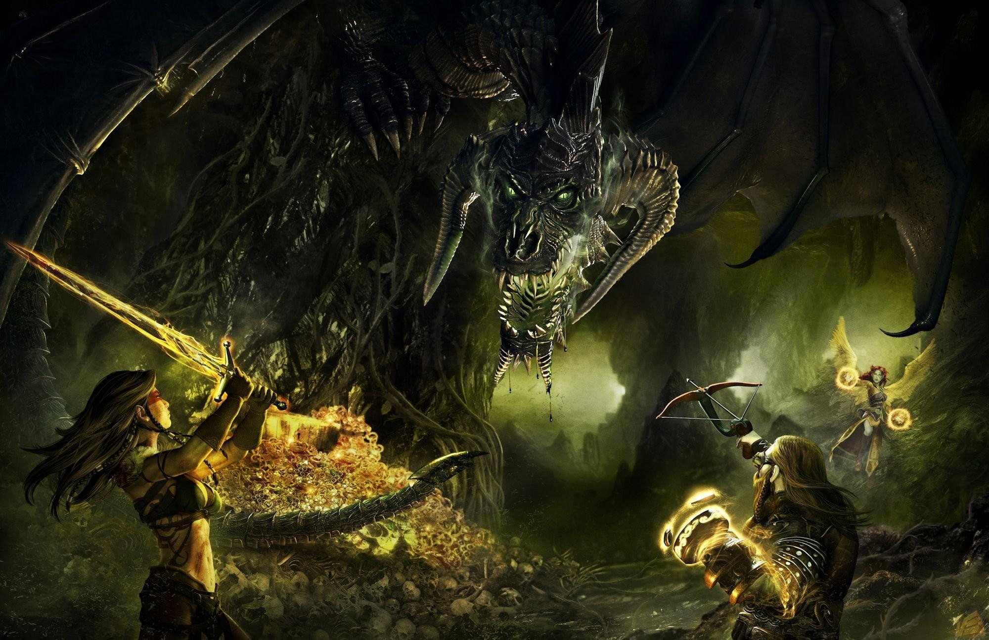 DUNGEONS DRAGONS Forgotten Realms magic rpg action adventure puzzle fantasy  warrior dragon wallpaper | | 821064 | WallpaperUP