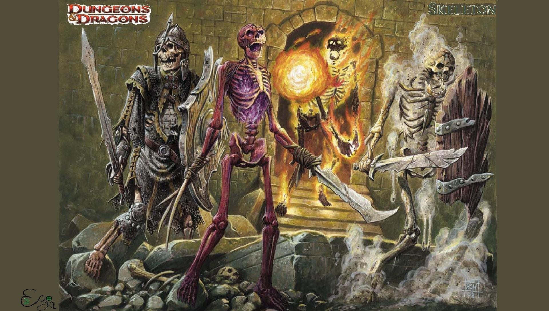 Dungeons Dragons Forgotten Realms Magic Rpg Action Adventure Puzzle Fantasy  Warrior Dragon Skull Skeleton Wallpaper At Dark Wallpapers