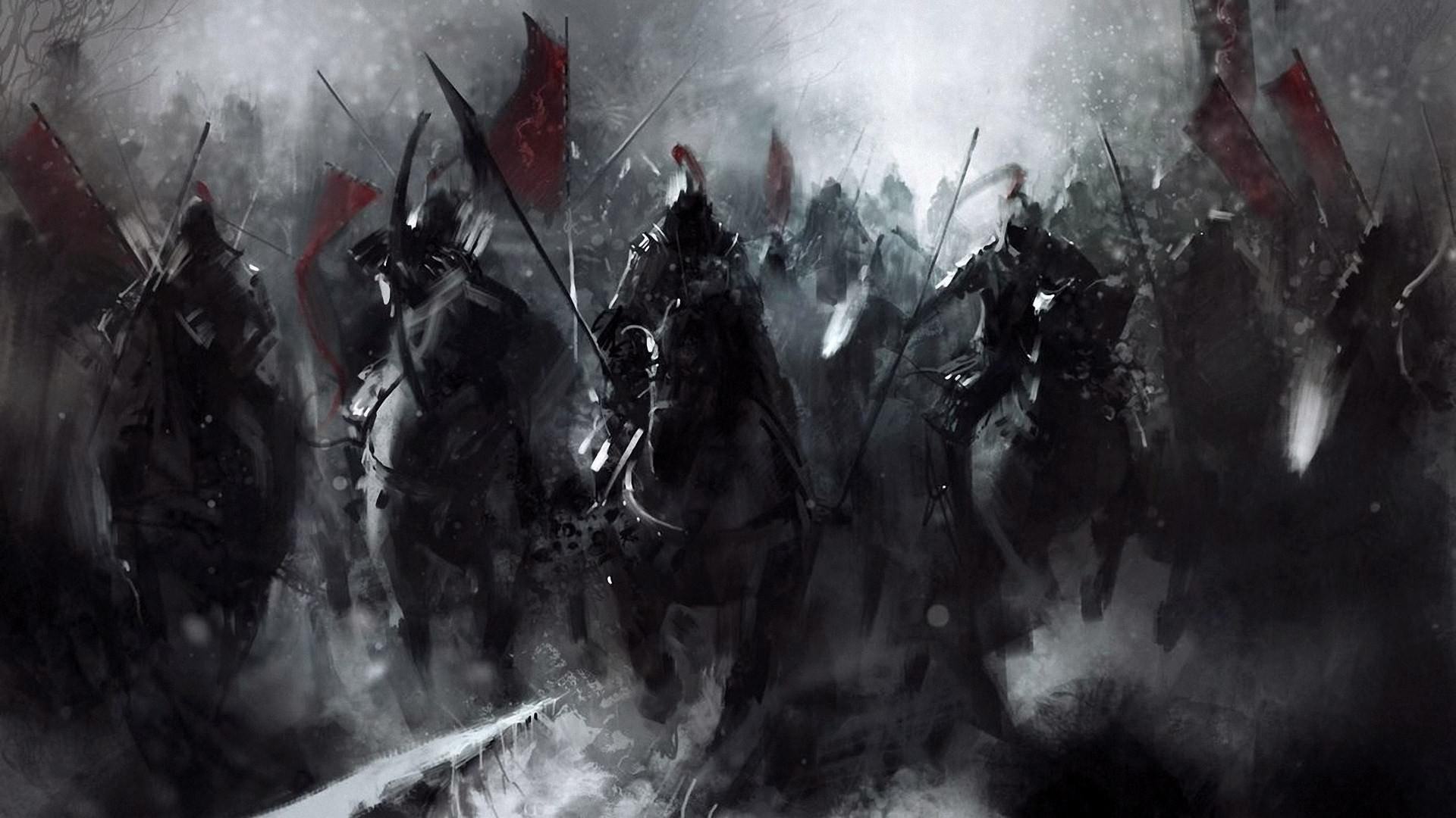 Dark Fantasy Horsemen Wallpaper – https://digitalart.io/dark-fantasy