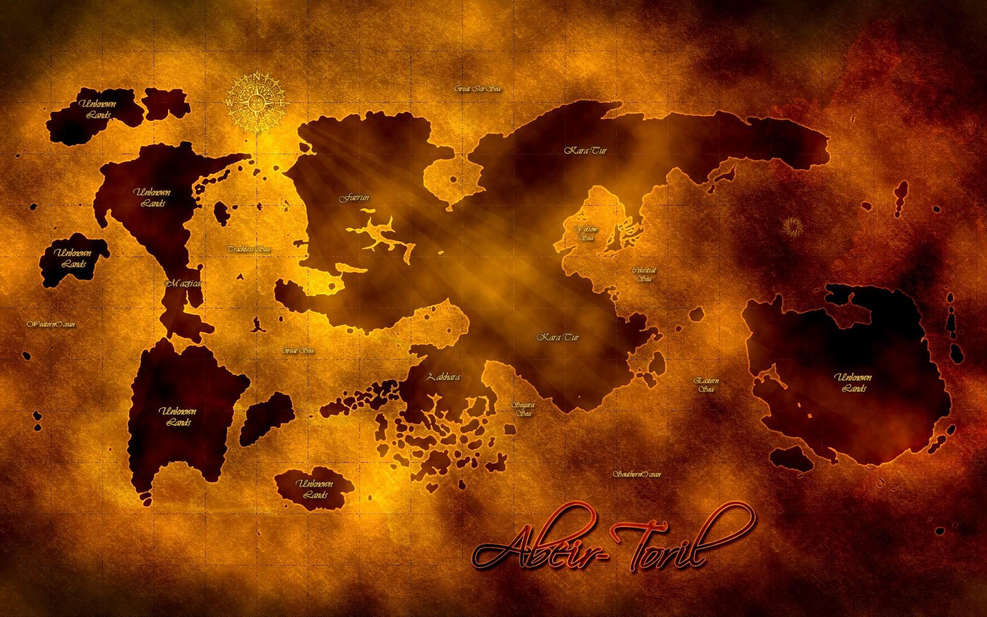 The Map of the Planet Abeir-Toril Wallpaper | Faerûn | Pinterest | Forgotten  realms