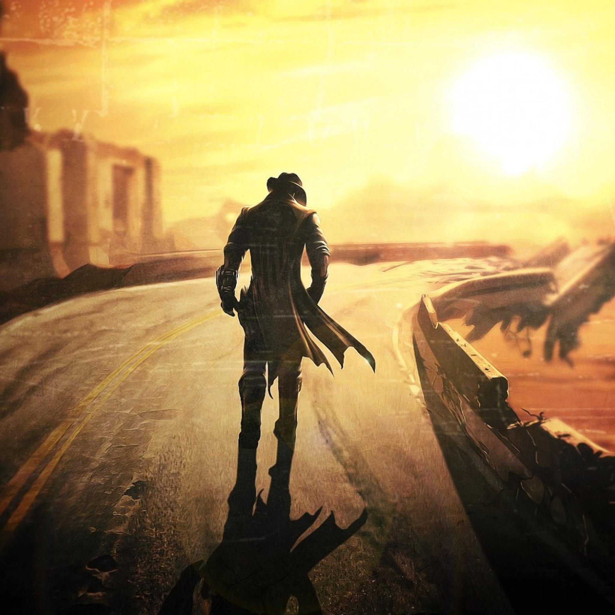 Preview wallpaper fallout new vegas, fallout, fallout 4, post apocalypse  2048×2048