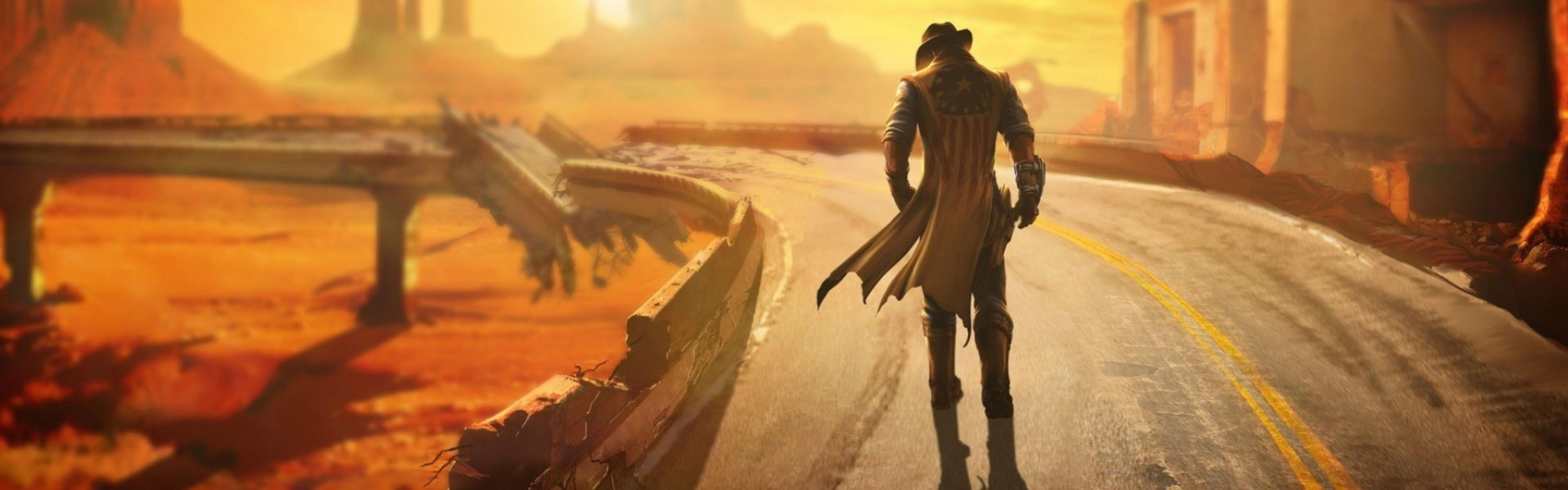 Wallpaper fallout, new vegas, wasteland, loner, road, hero