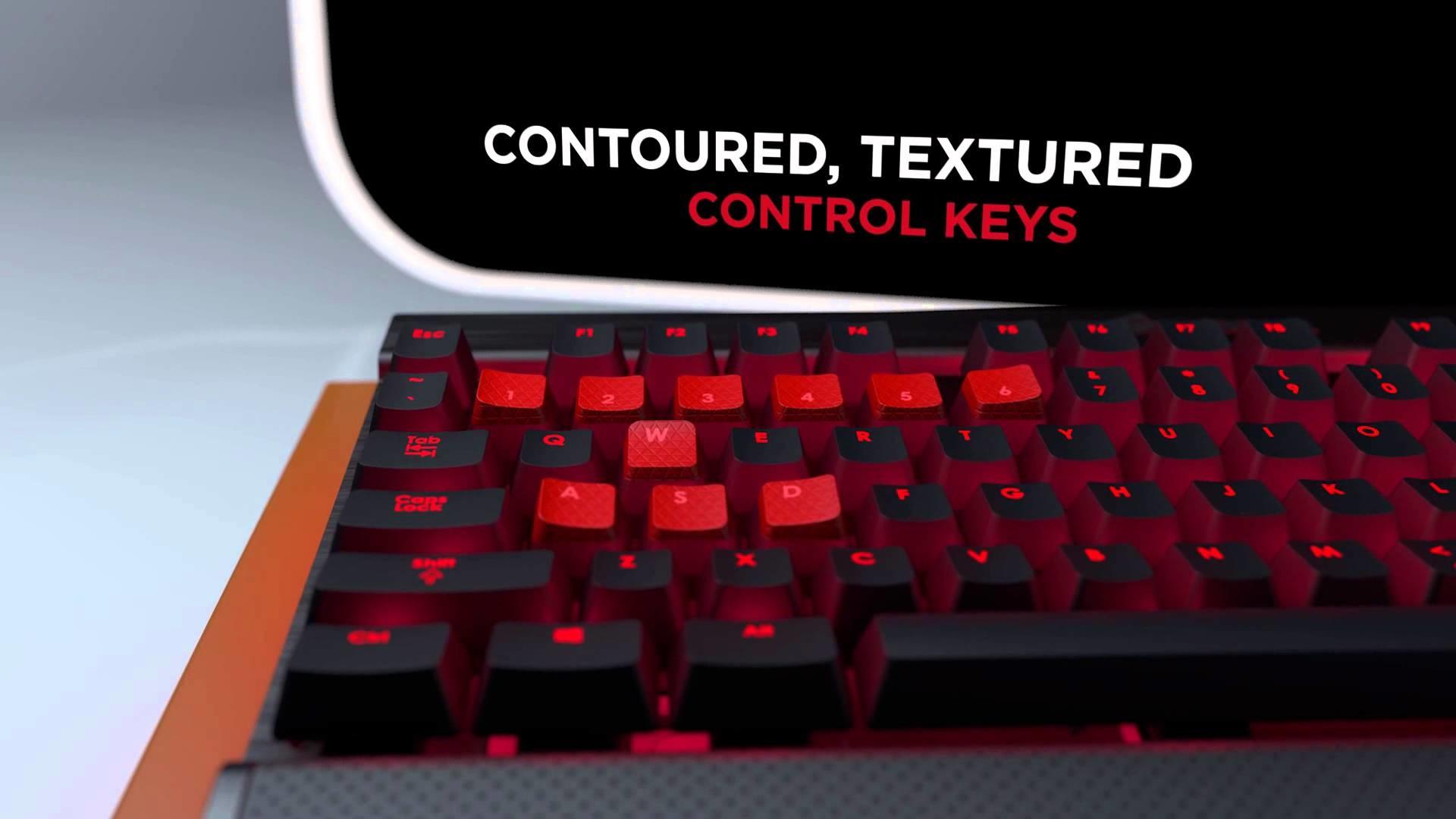 Corsair Vengeance K70 mechanical gaming keyboard showcase