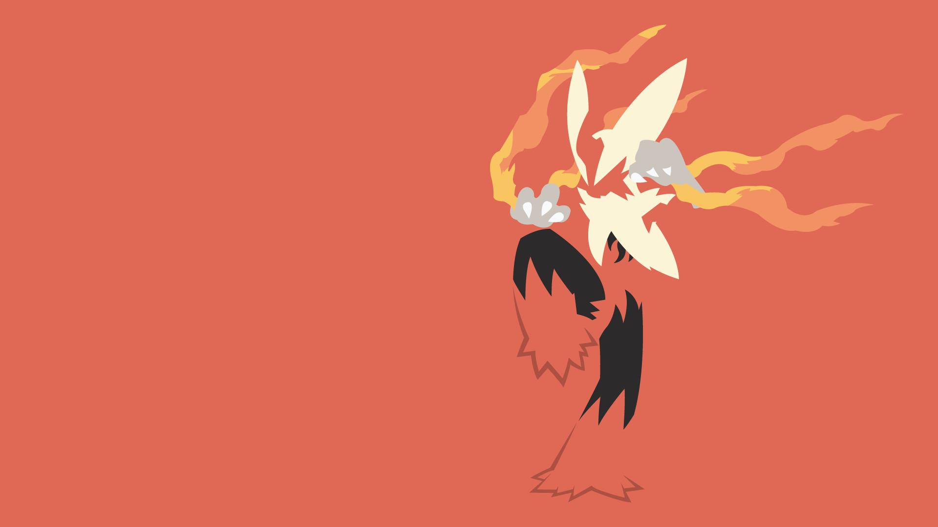 Pokemon Fire Type Starters as Minimalist Wallpapers