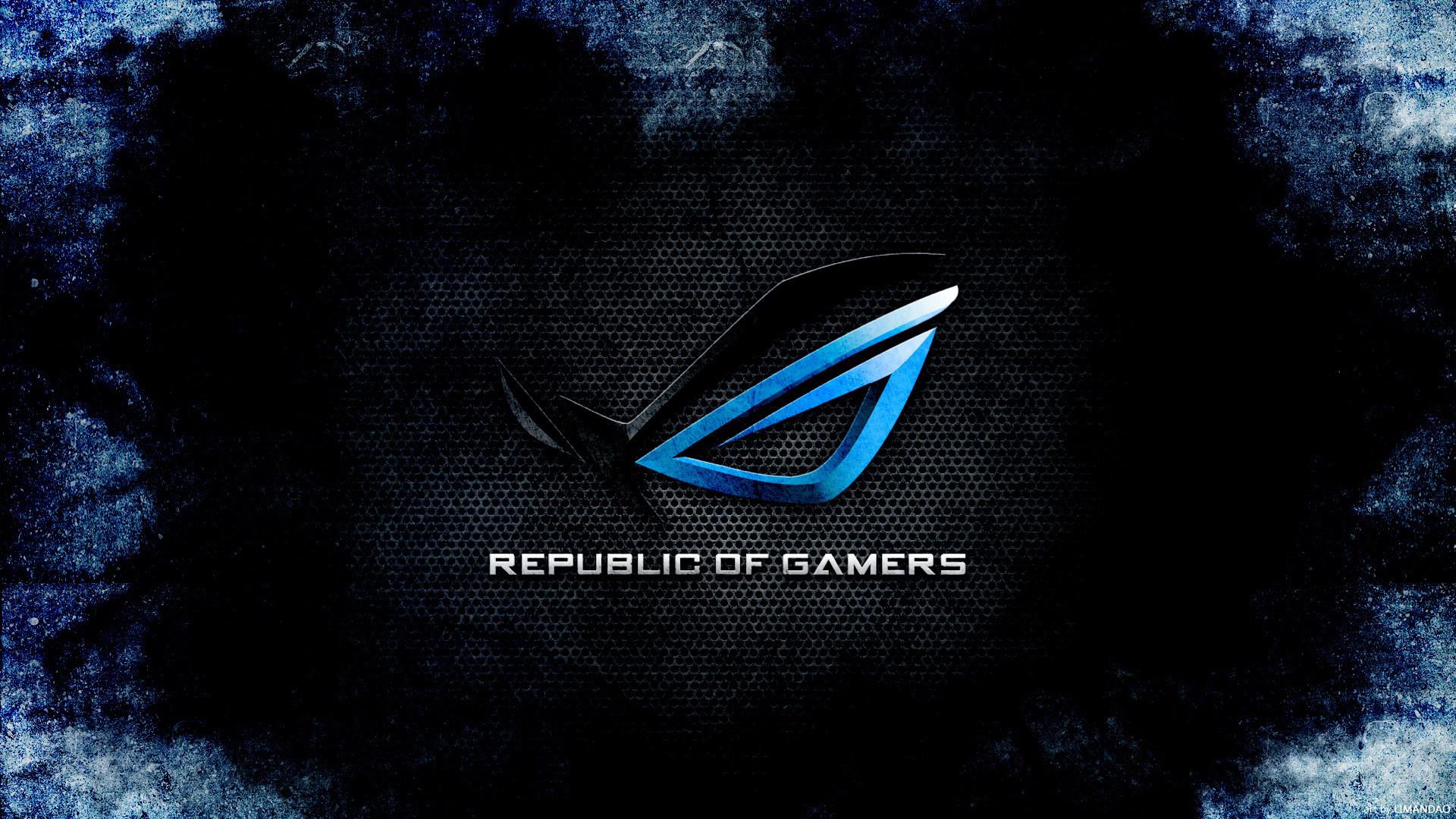 Republic of Gamers Dark Blue 17 Wallpaper HD