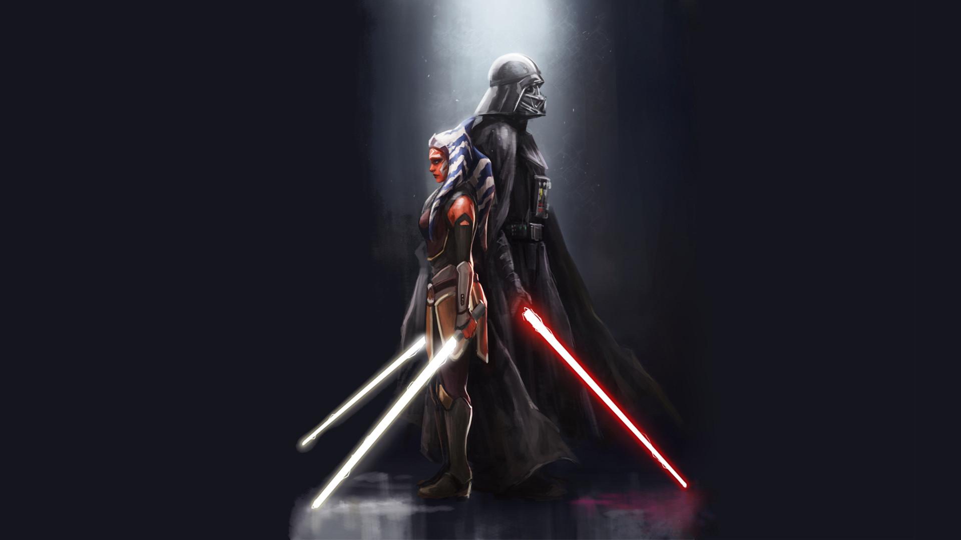 Fan CreationsAhsoka and Vader wallpaper …