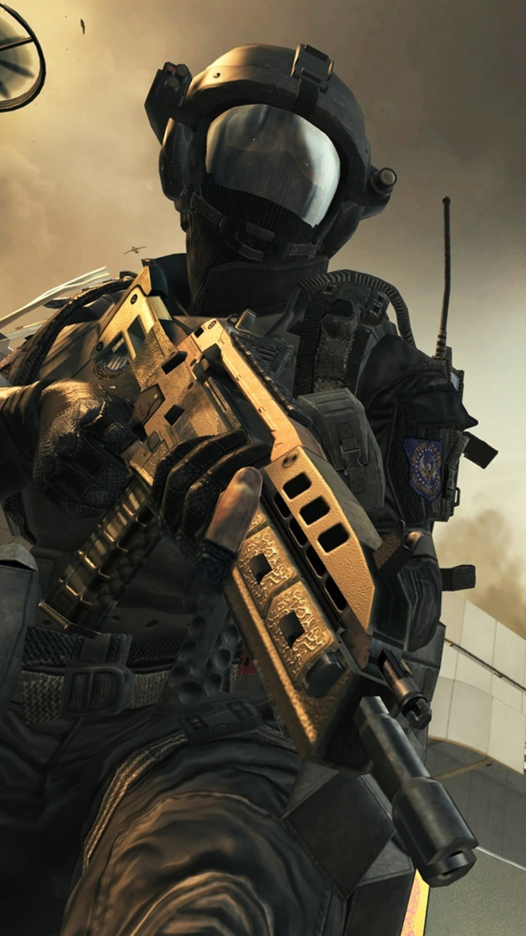 Preview wallpaper call of duty, black ops 2, game, weapons 1080×1920