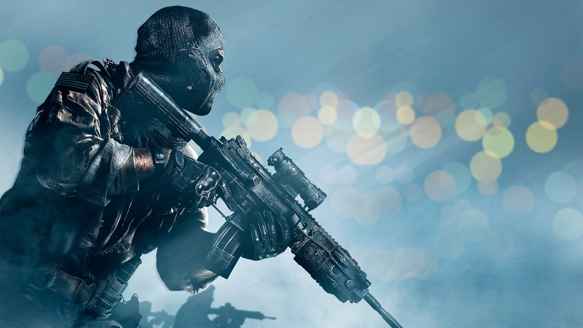 Preview wallpaper call of duty ghosts, activision, infinity ward, soldier,  gun,