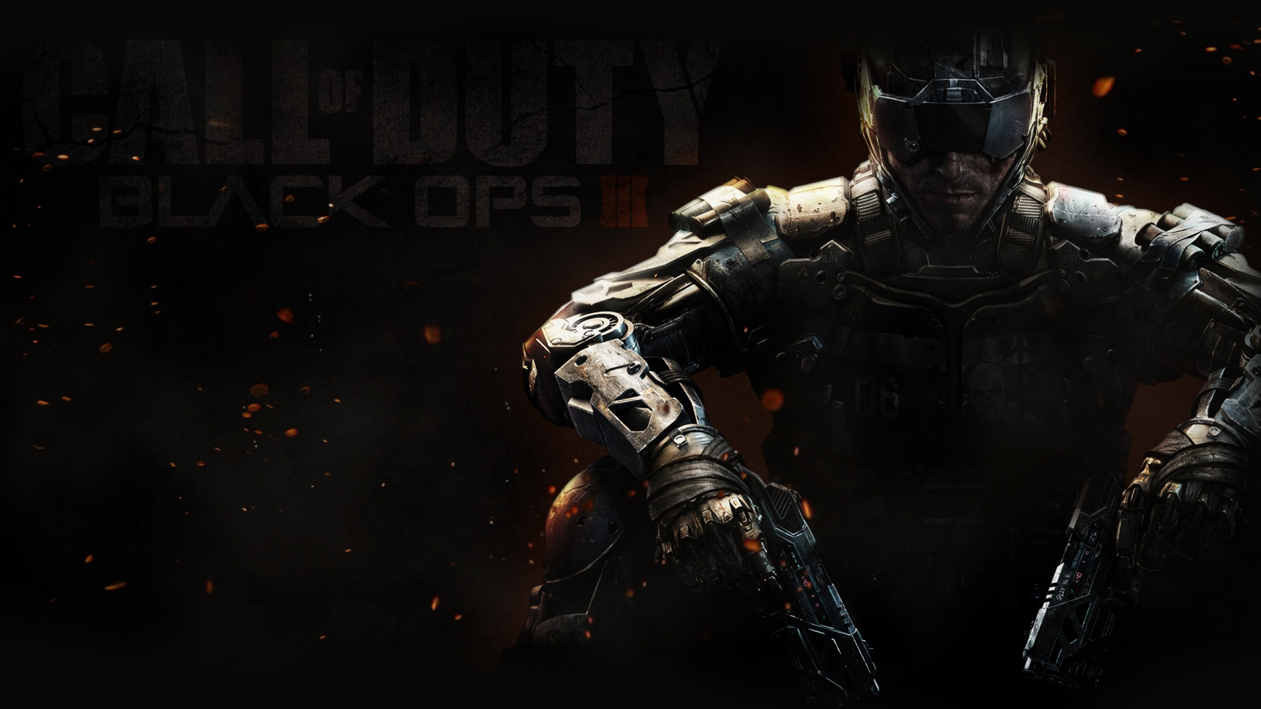 Preview wallpaper call of duty, black ops 3, weapons, equipment 2560×1440