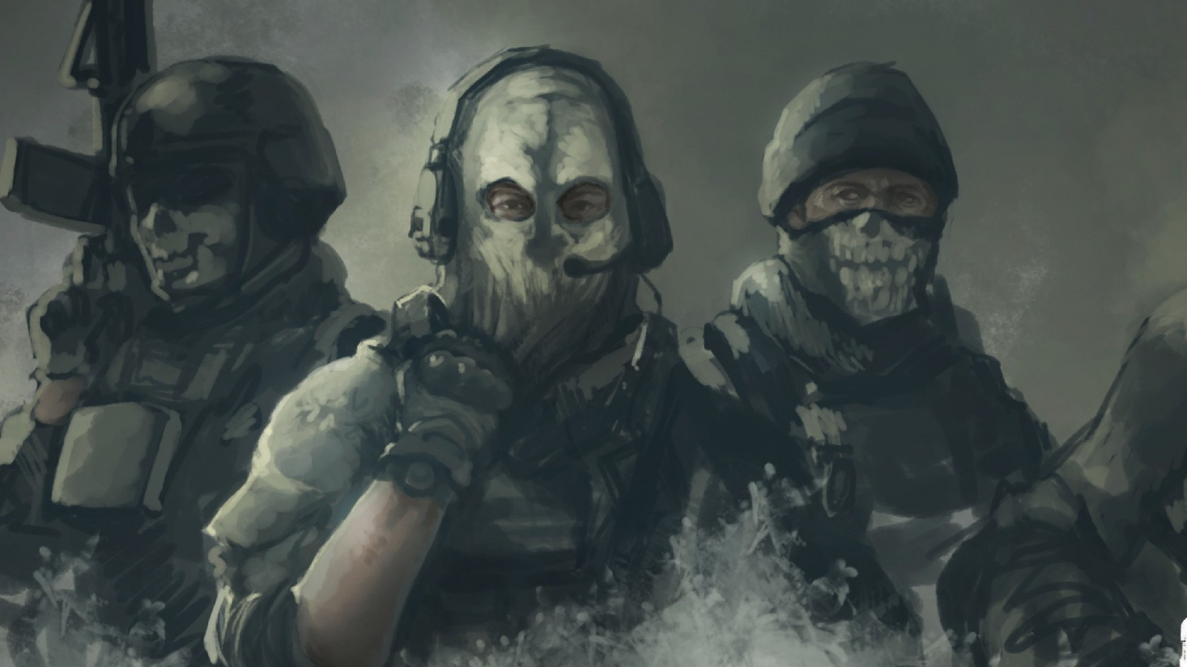 Preview wallpaper call of duty, ghosts, art 3840×2160
