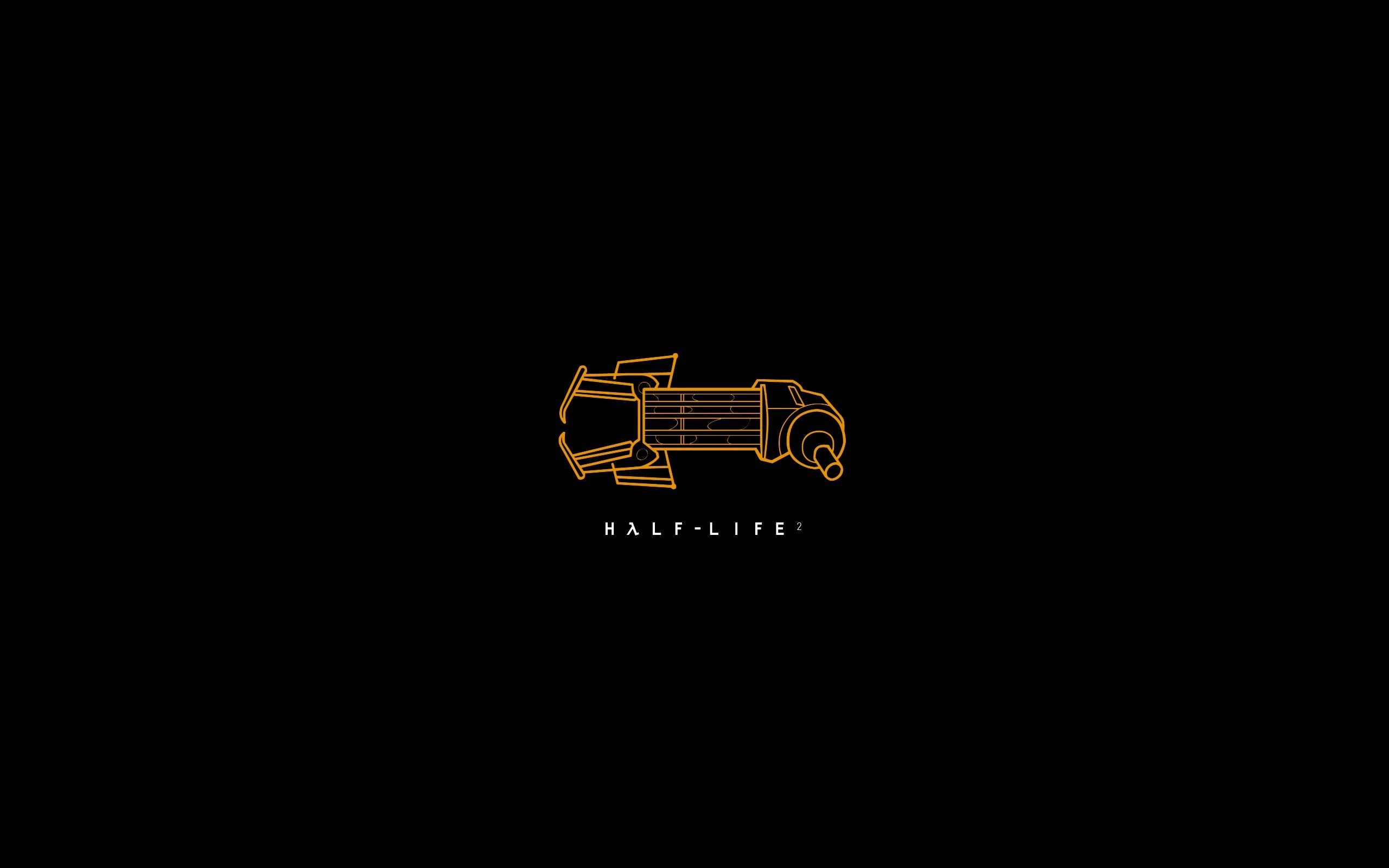 Wallpaper Half-life 2, Gravity gun, Art, Logo