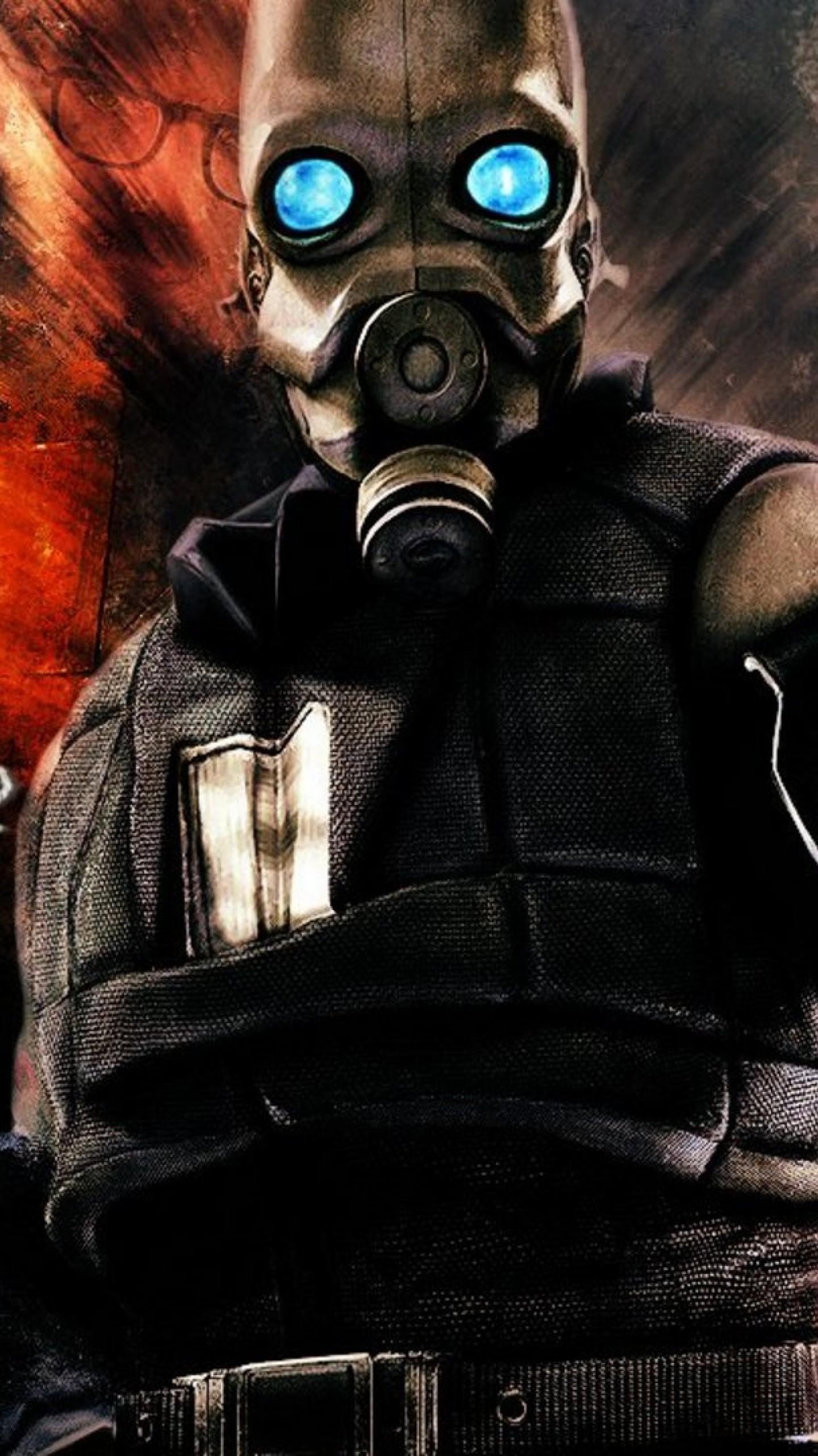 Wallpaper half-life 2, guard, mask, look