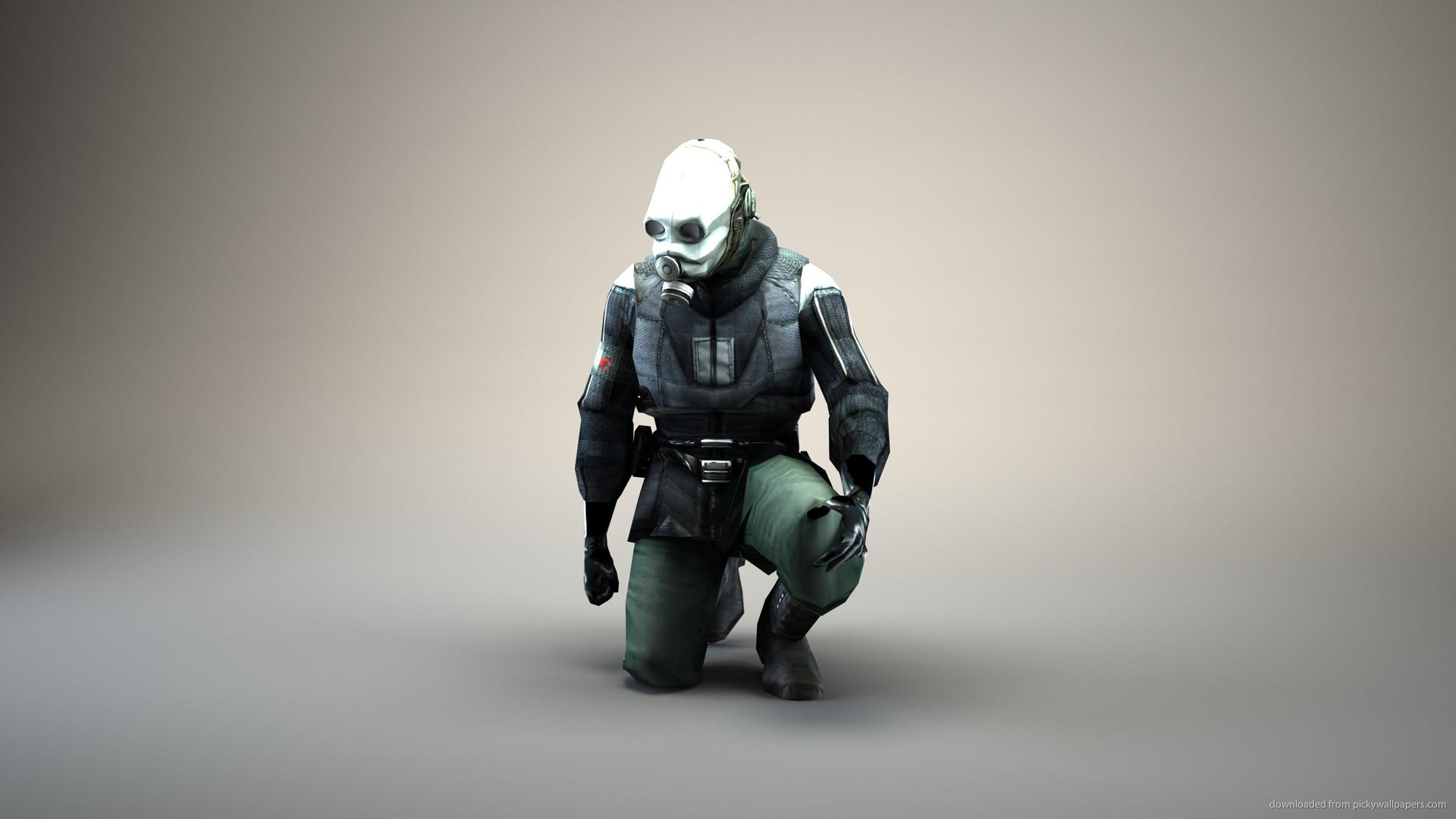 HD Half-Life City 17 Policeman render wallpaper