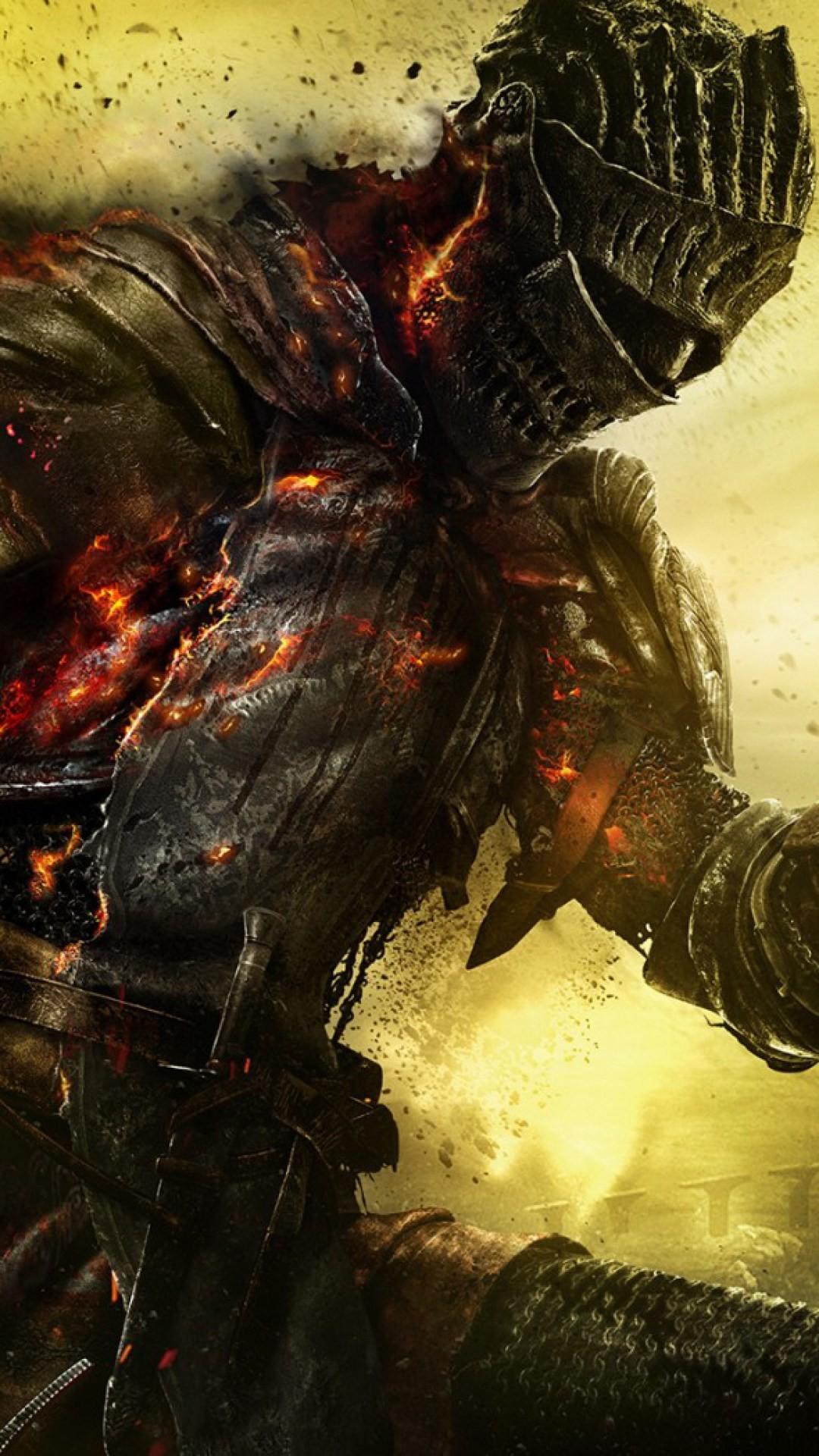 Hd Background Dark Souls Iii Armor Burning Fire Ash Art Wallpaper