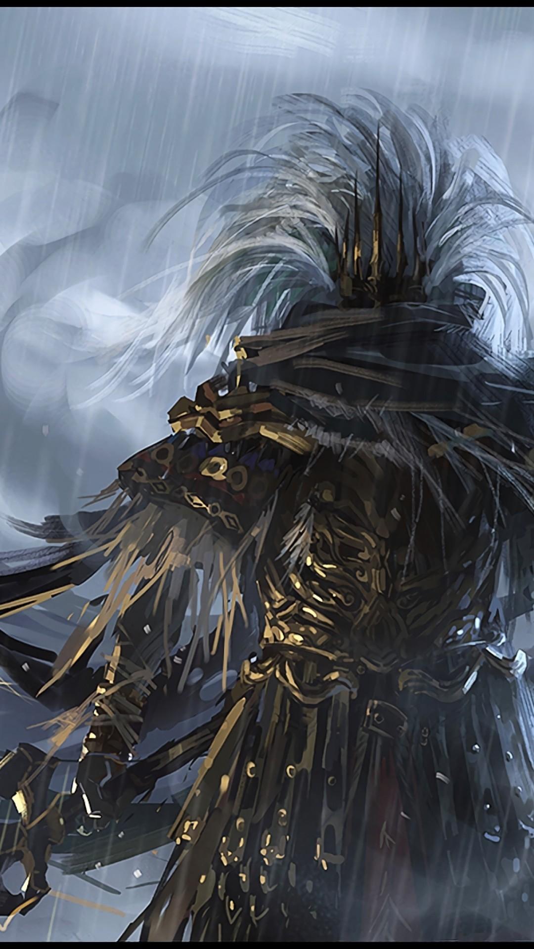 Dark Souls 3, Nameless King, Boss, Spear, Painting, Artwork