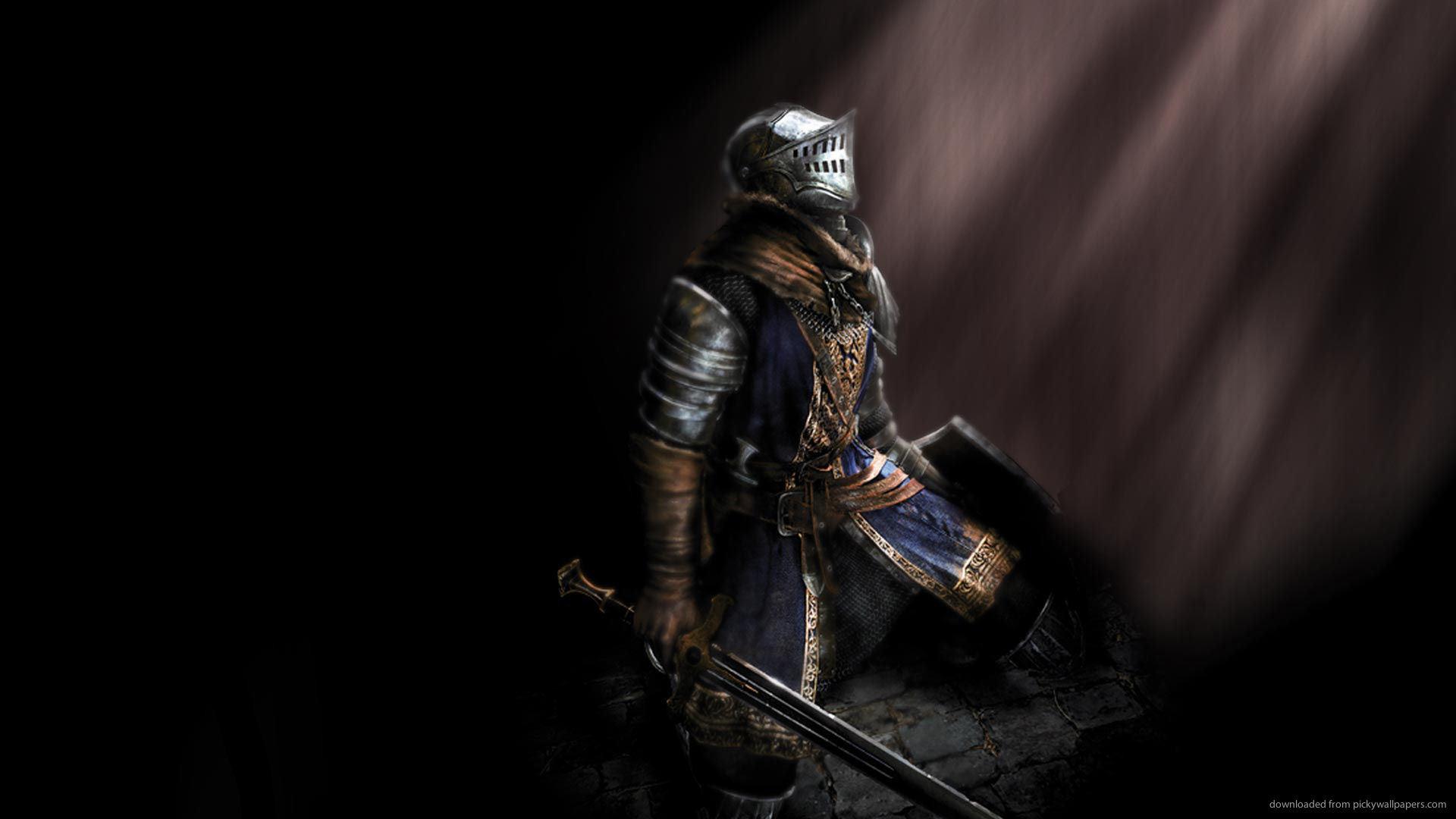 Dark Souls hero kneeling picture
