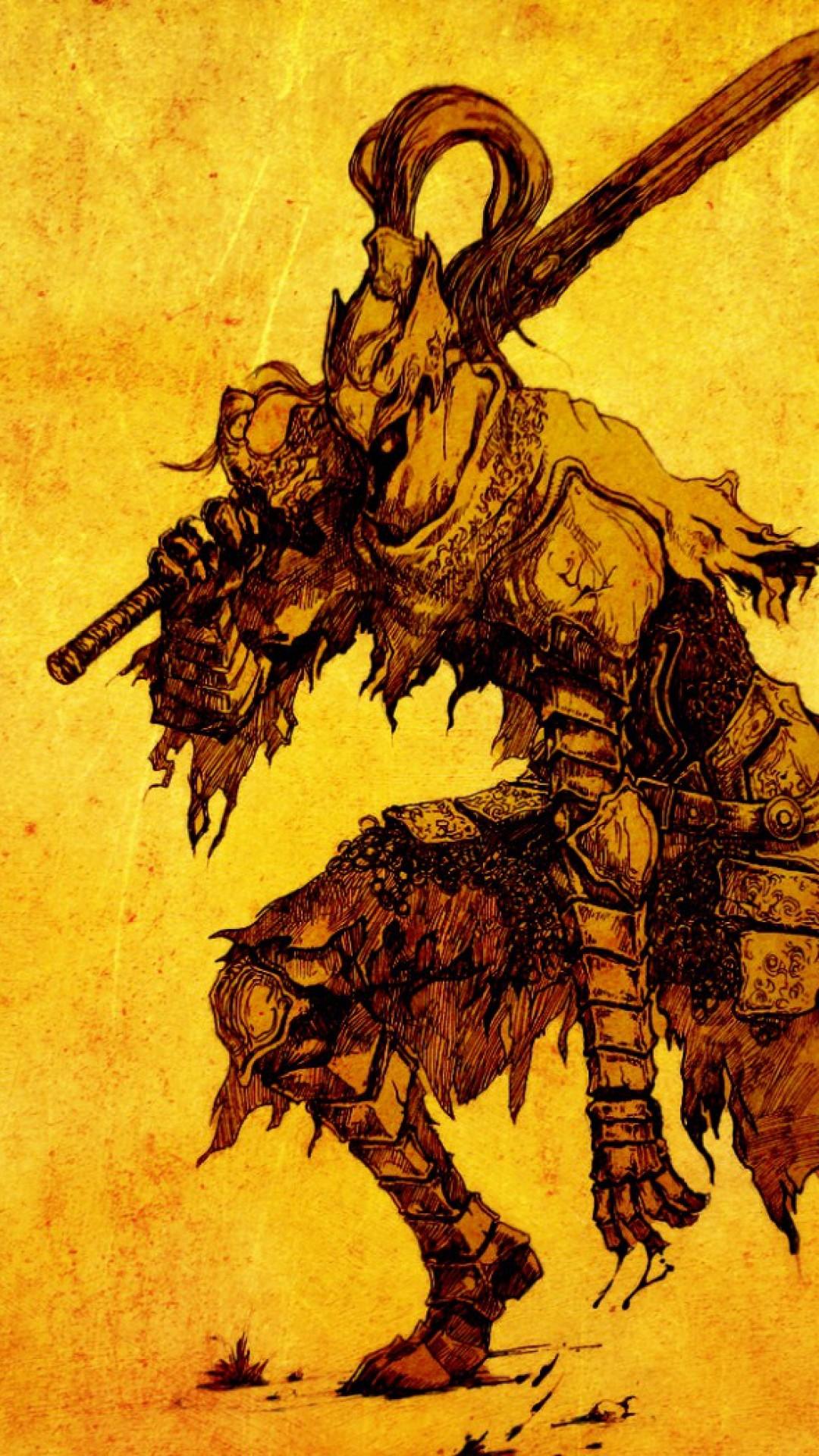 Preview wallpaper dark souls, art, hero 1080×1920