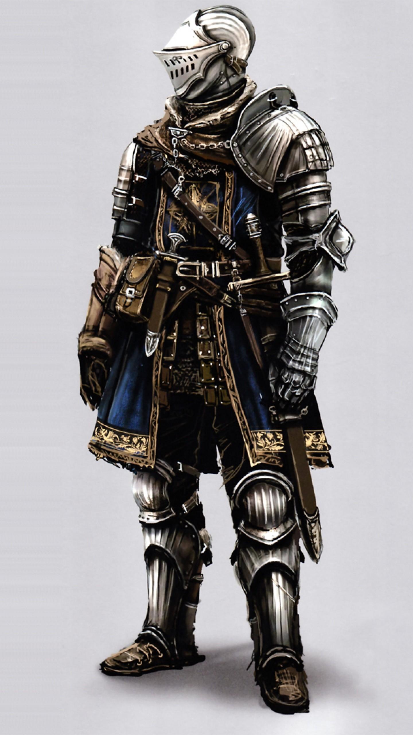 Preview wallpaper dark souls, knight, armor, art 1440×2560