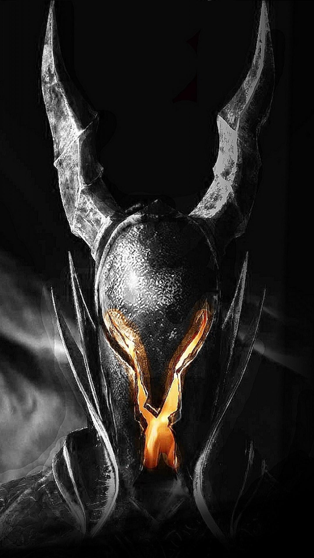 Preview wallpaper dark souls, helmet, light, fire, look 1080×1920