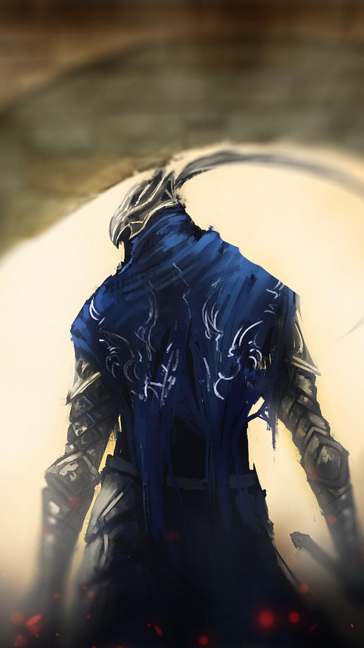 Wallpaper dark souls, gates, knight, art
