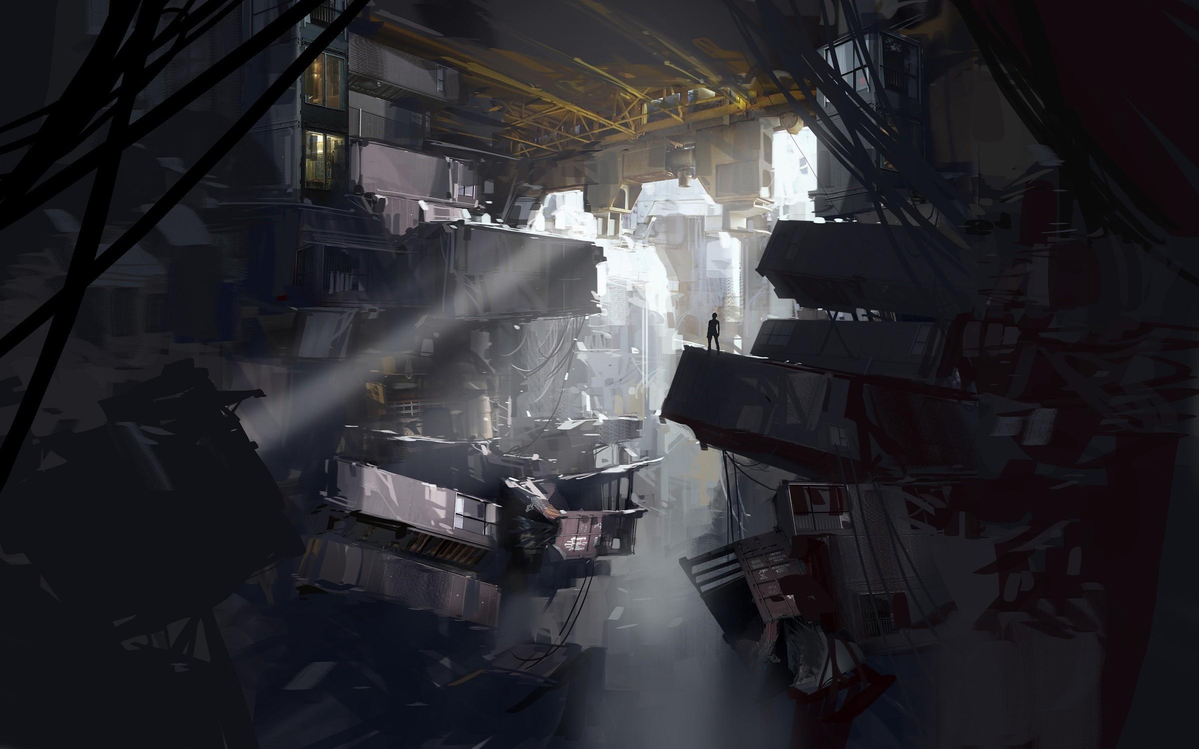 artwork, Architecture, Futuristic, Portal 2 Wallpaper HD
