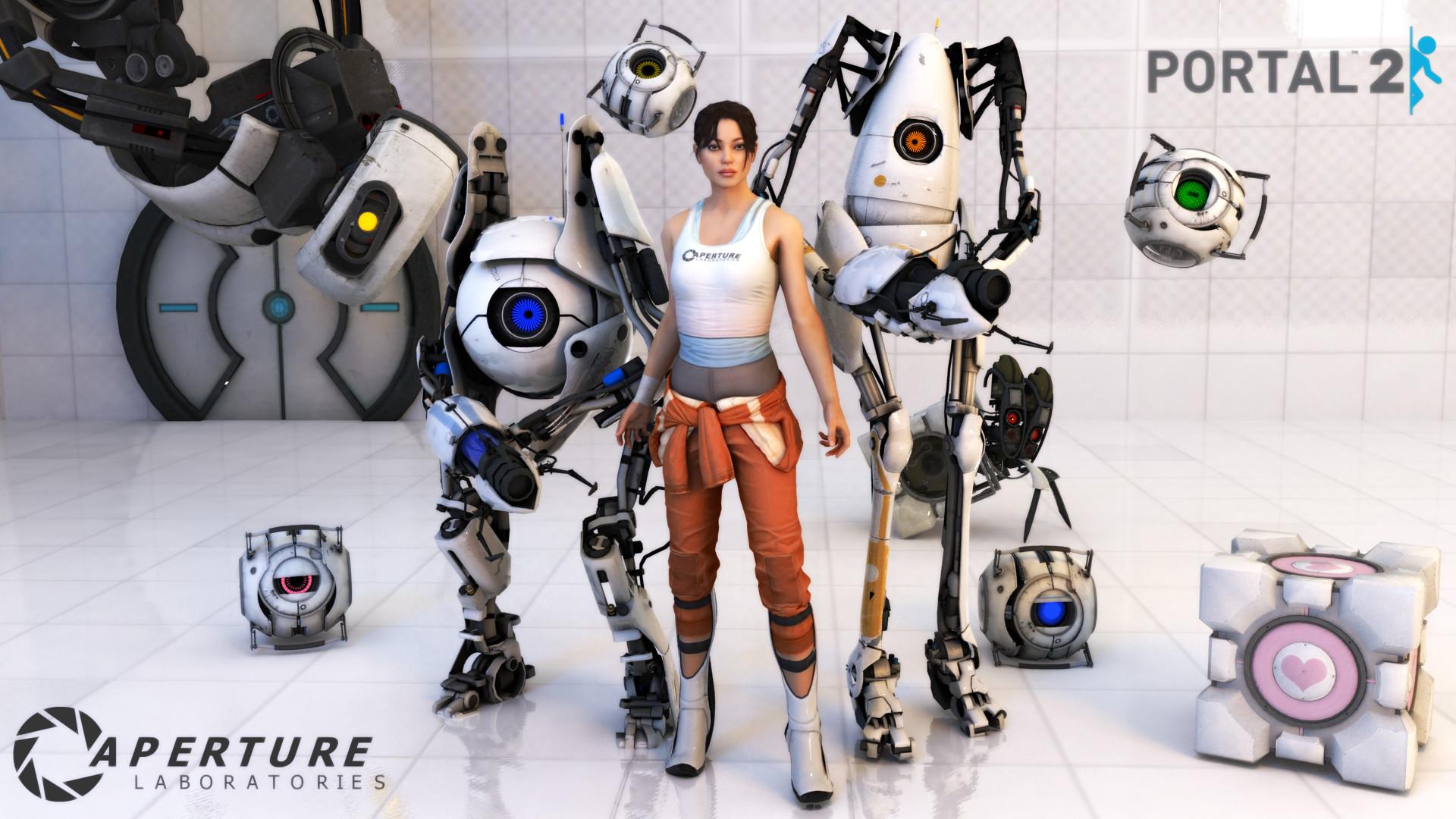 Video Game – Portal 2 Wheatley (Portal) Chell (Portal) Portal (Video