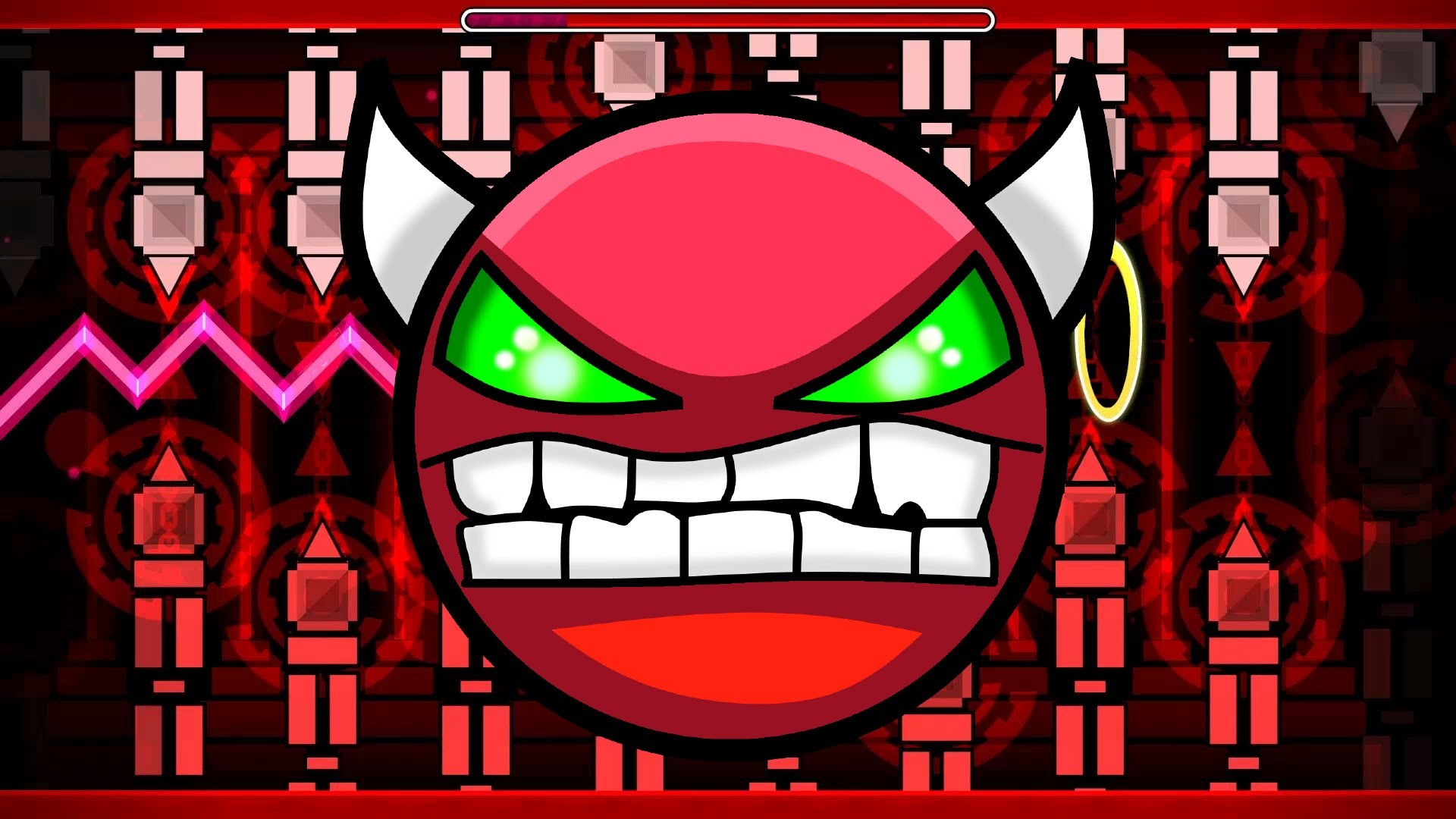 Geometry Dash – Impossible Demon – Rebellion – Practice and new record 21%  – YouTube