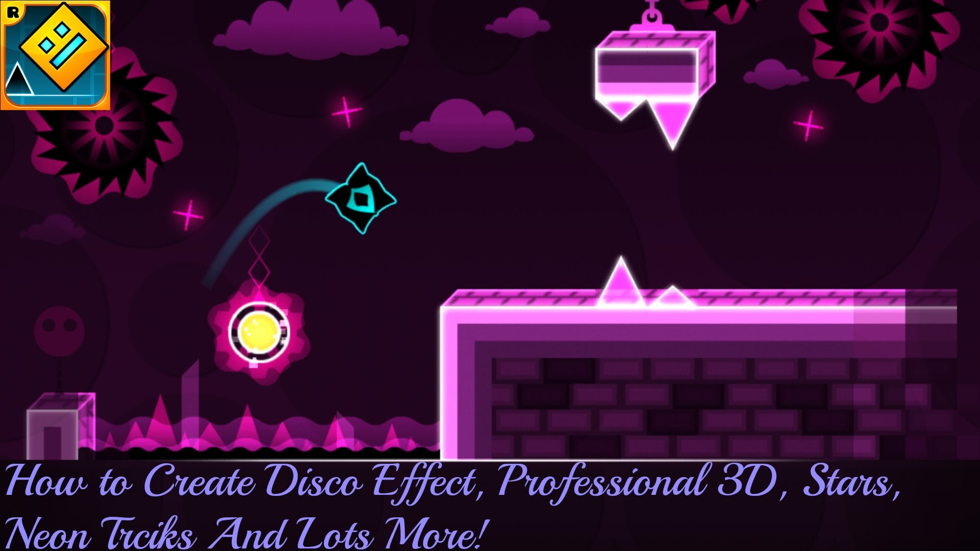 Geometry Dash Tutorial   How to make the Disco Effect, Neon Stars & Decors,  Custom Songs, & More! – YouTube